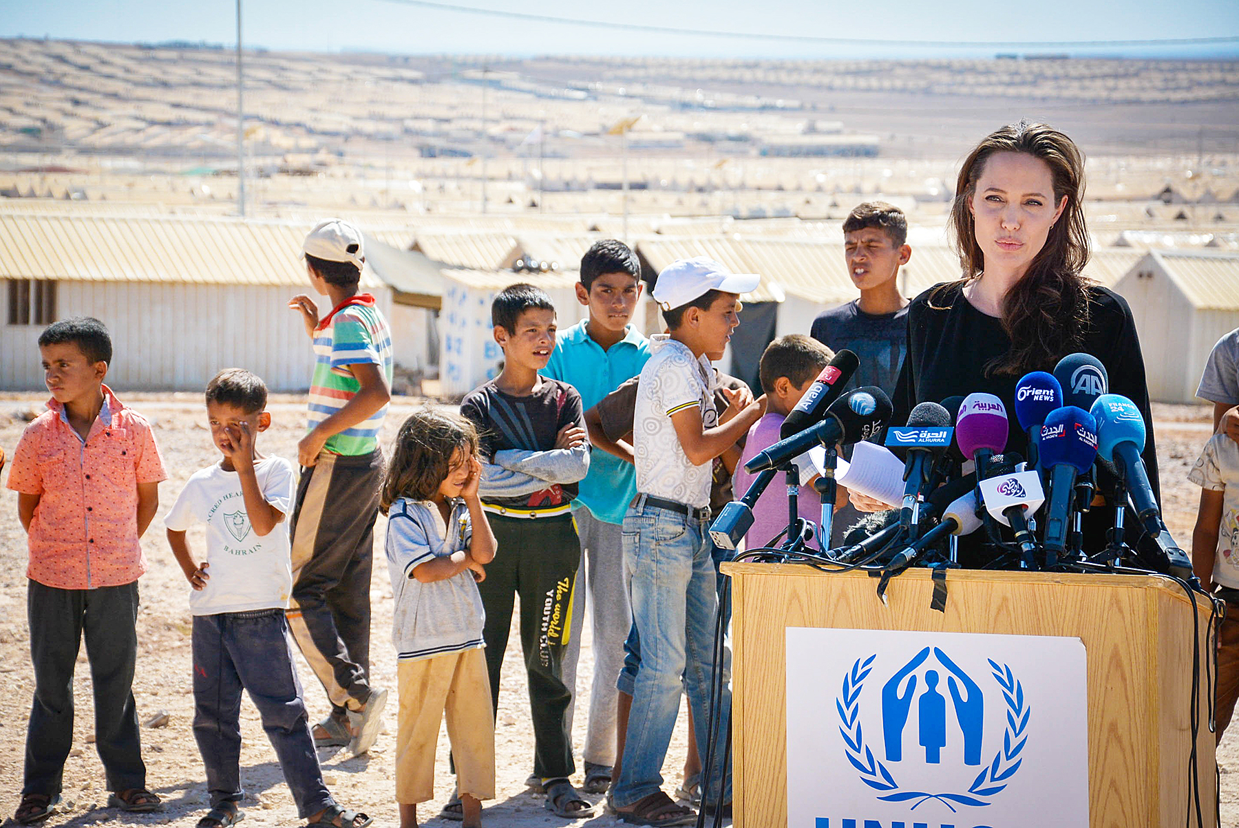 Angelina Jolie Jordan Syrian Refugees