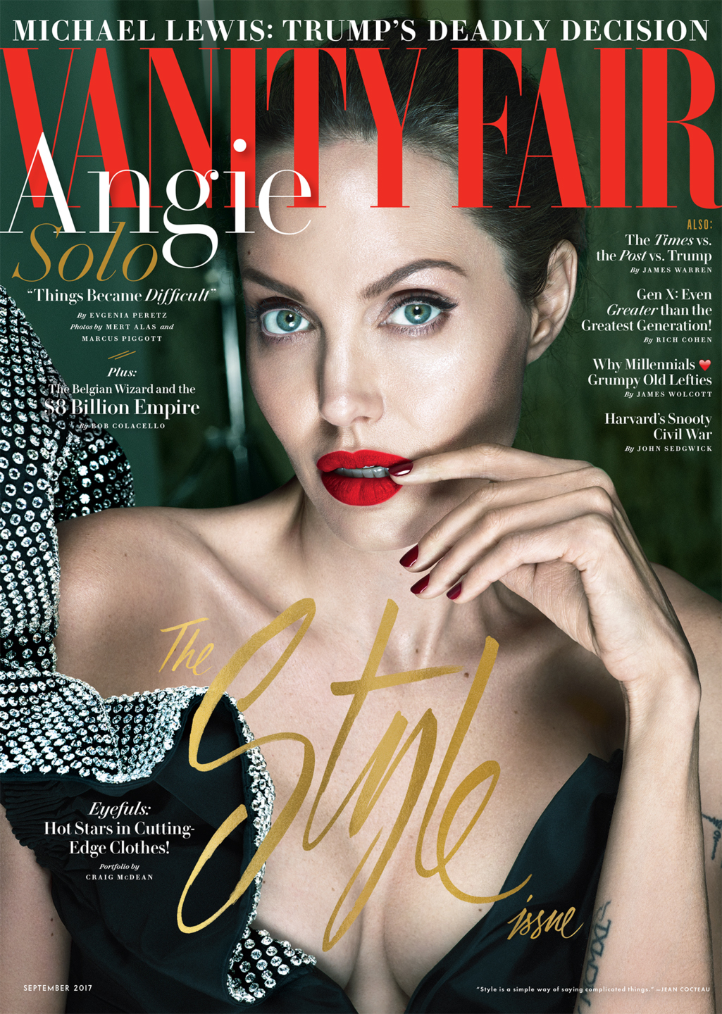 Angelina Jolie on the cover of Vanity Fair