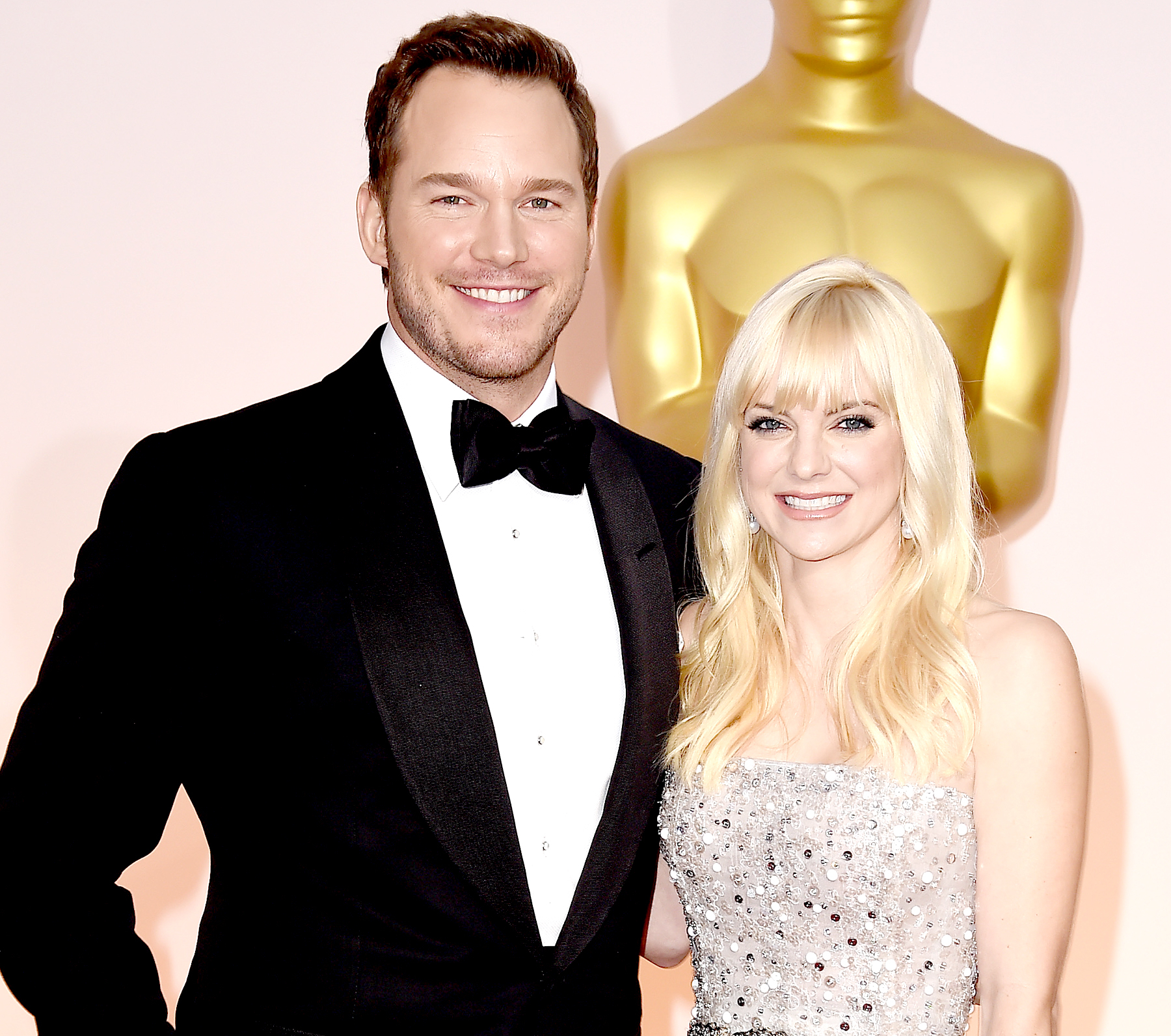 Chris Pratt and Anna Faris attend the 87th Annual Academy Awards at Hollywood & Highland Center on February 22, 2015 in Hollywood, California.
