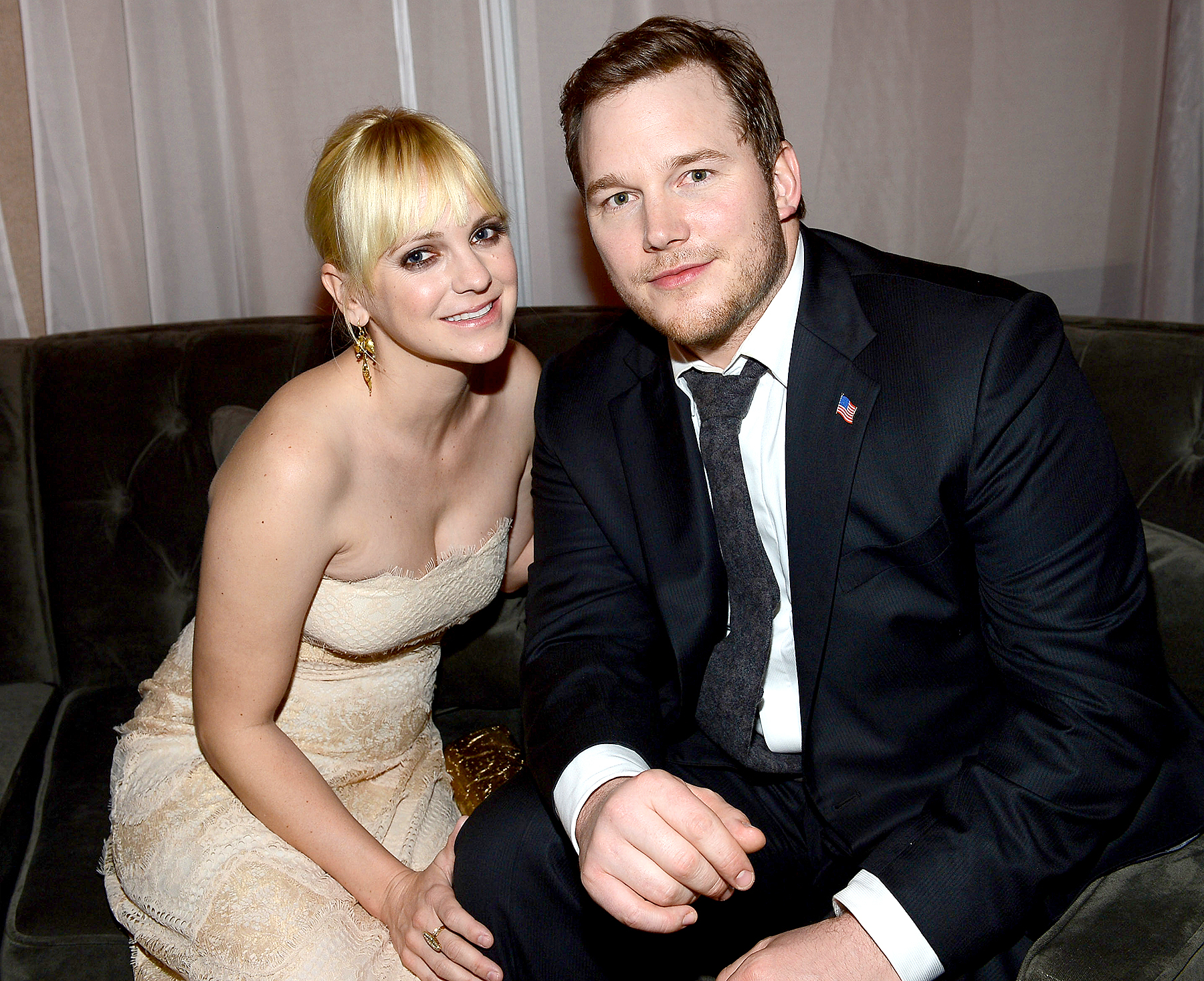 """Anna Faris and Chris Pratt attend the after party for the premiere of Columbia Pictures' """"Zero Dark Thirty"""" at the Dolby Theatre on December 10, 2012 in Hollywood, California."""