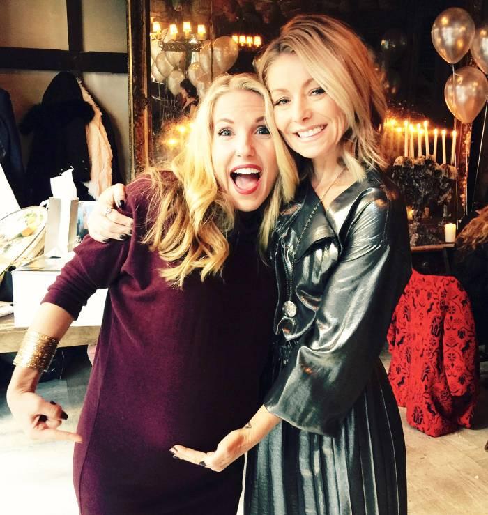 Anna Kaiser and Kelly Ripa at Gemma in NYC