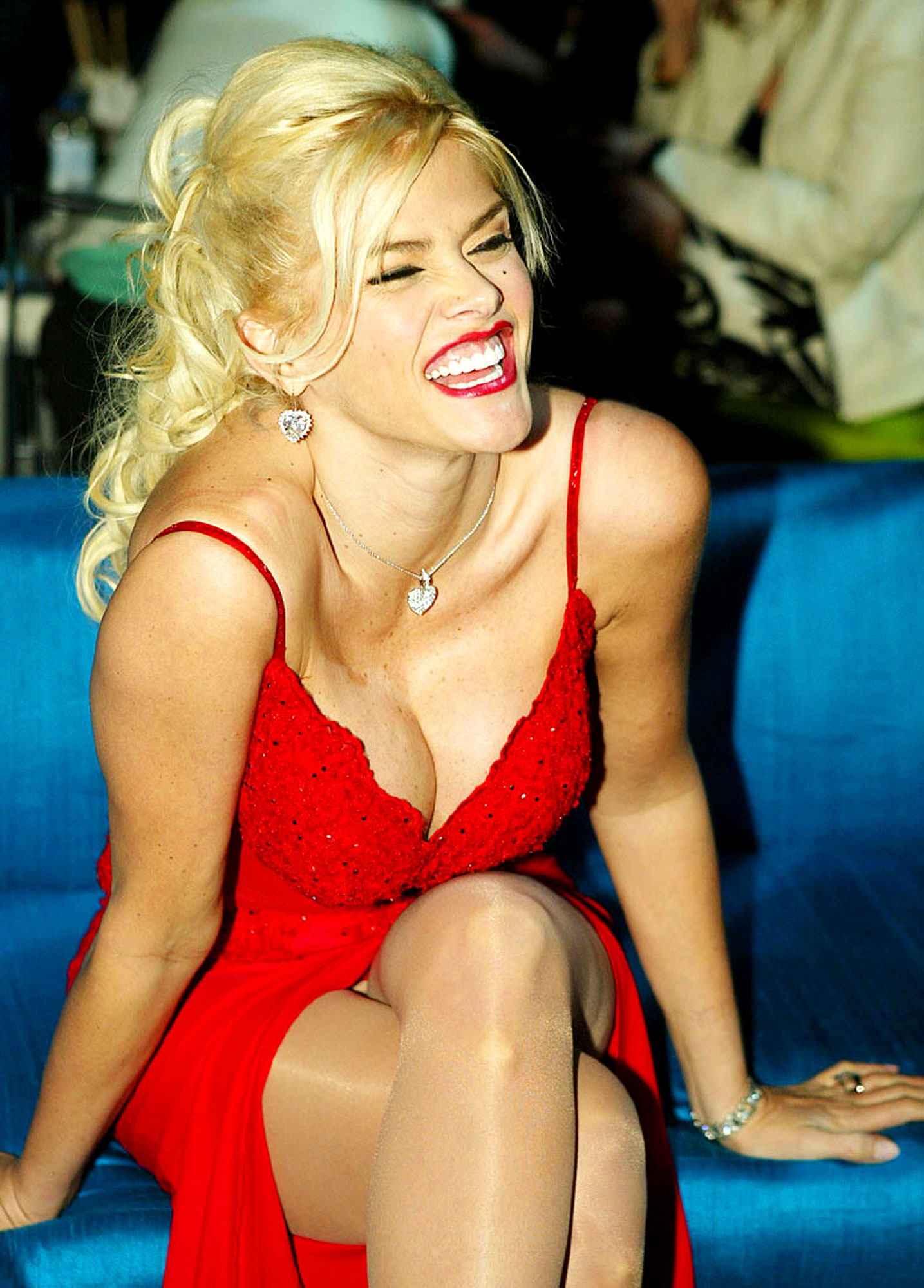 Anna Nicole Smith poses at the after party for the Premiere of MGM's