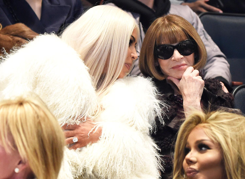 Kim Kardashian and Anna Wintour