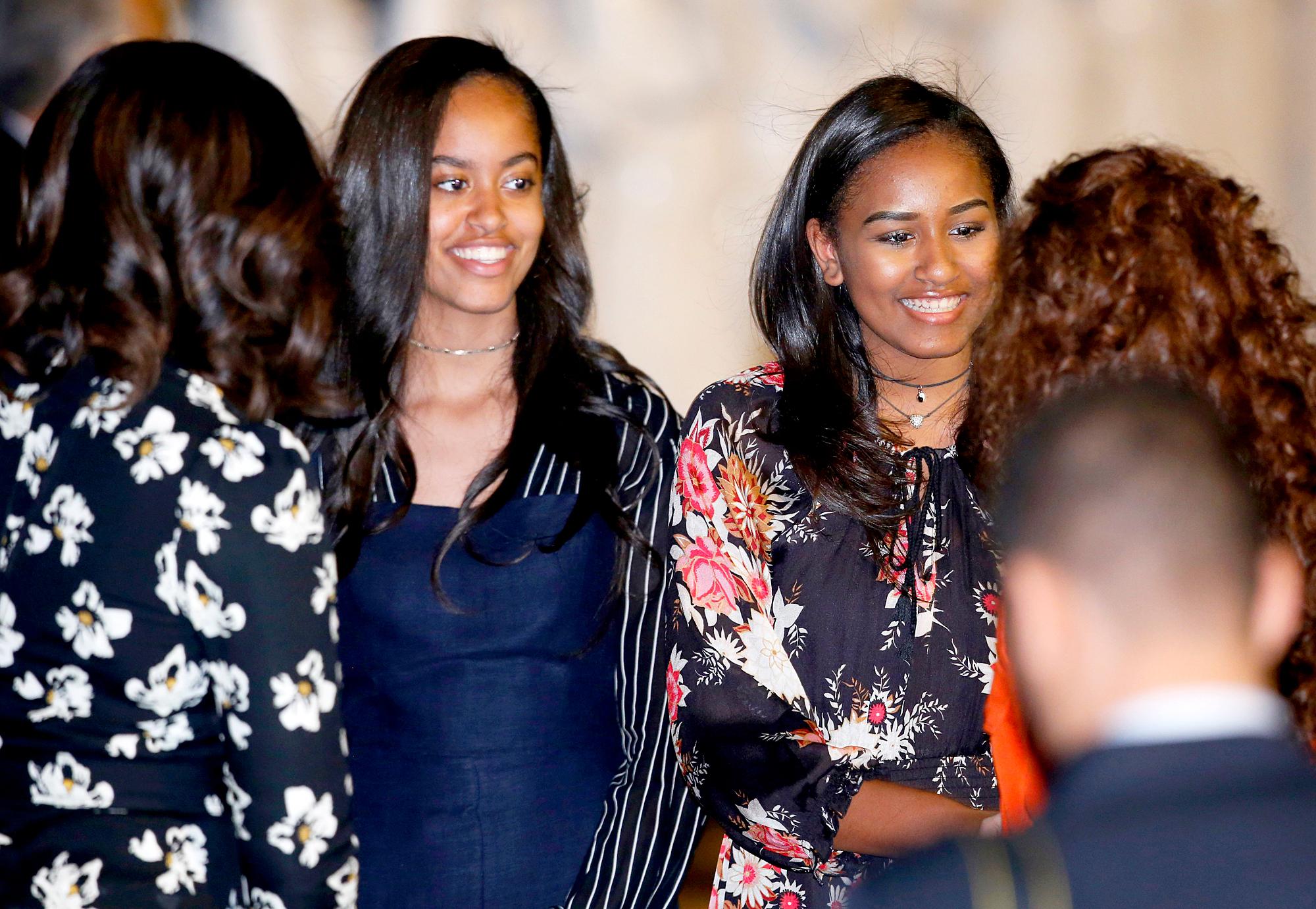 Malia Obama and Sasha Obama