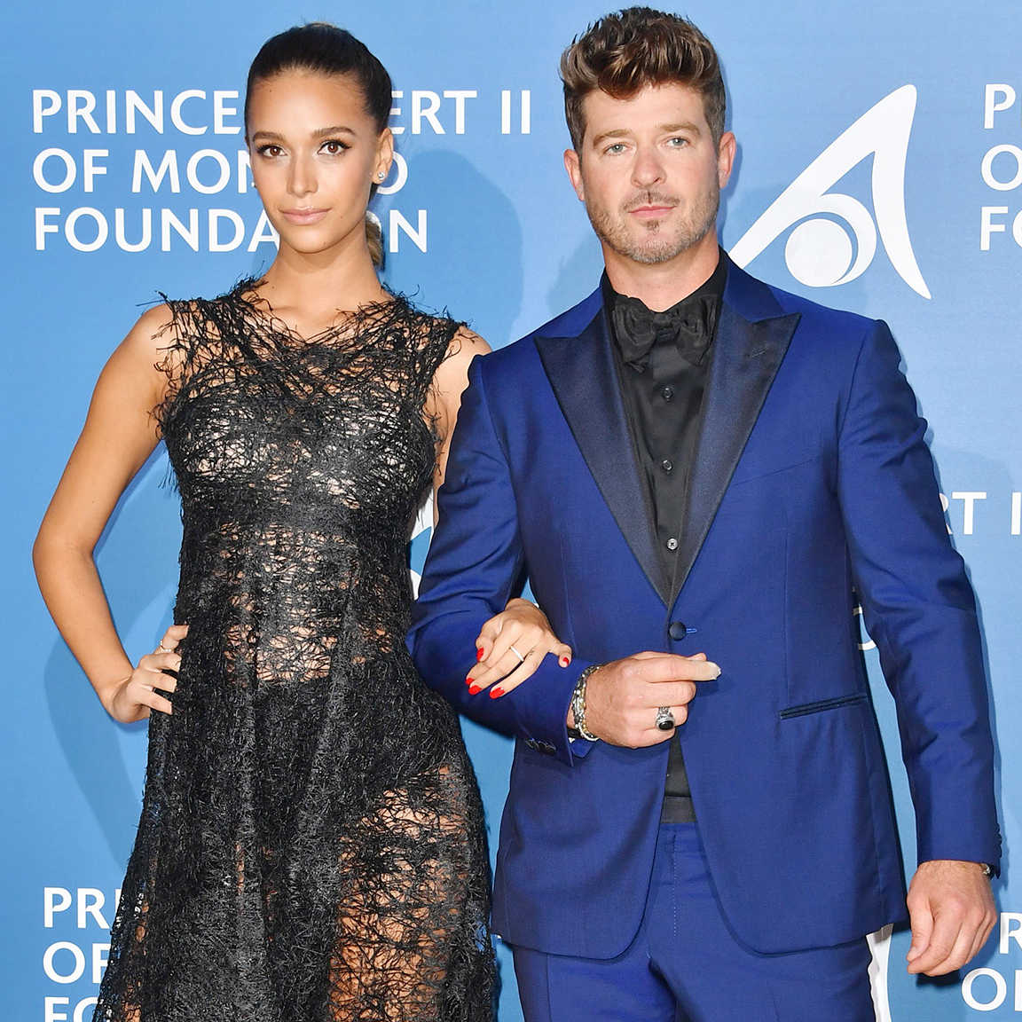 April Love Geary, Robin Thicke, Pregnant, Monte-Carlo Gala