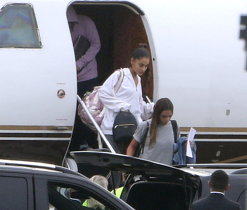 Ariana Grande seen arriving in the UK for the first time since the terrorist attack at her concert in Manchester.
