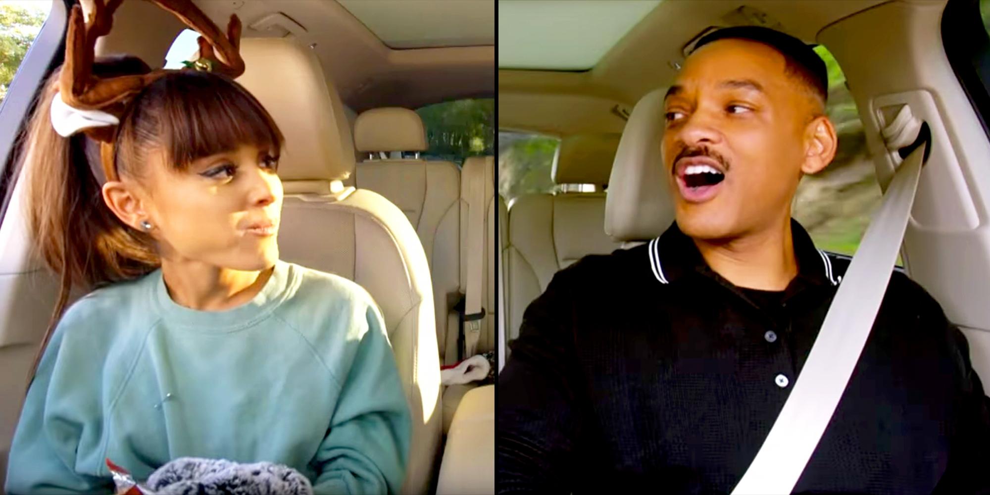Ariana Grande Will Smith Rock Out In Carpool Karaoke The Series
