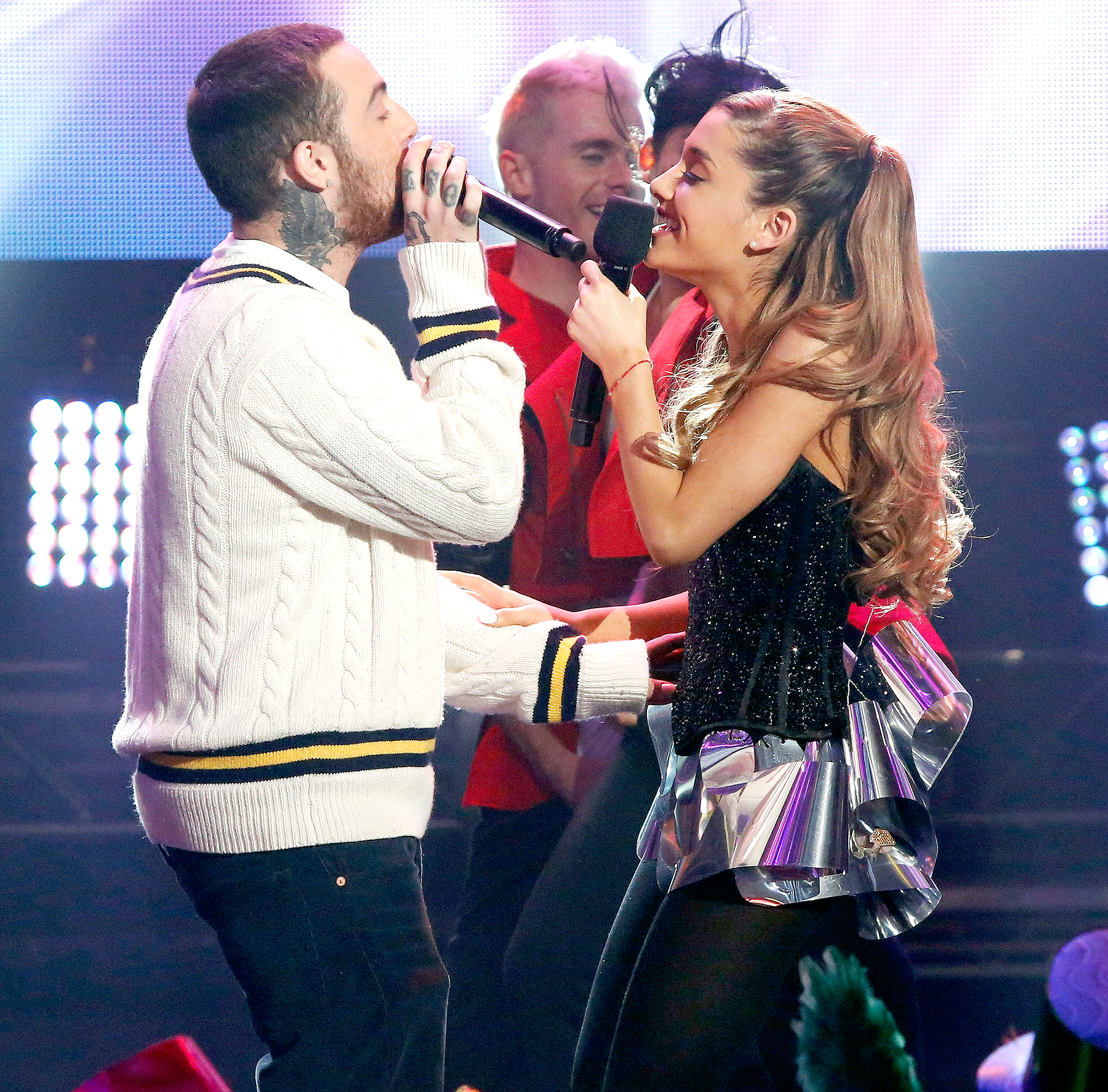 Mac Miller and Ariana Grande perform at Dick Clark's New Year's Rockin' Eve With Ryan Seacrest 2014.