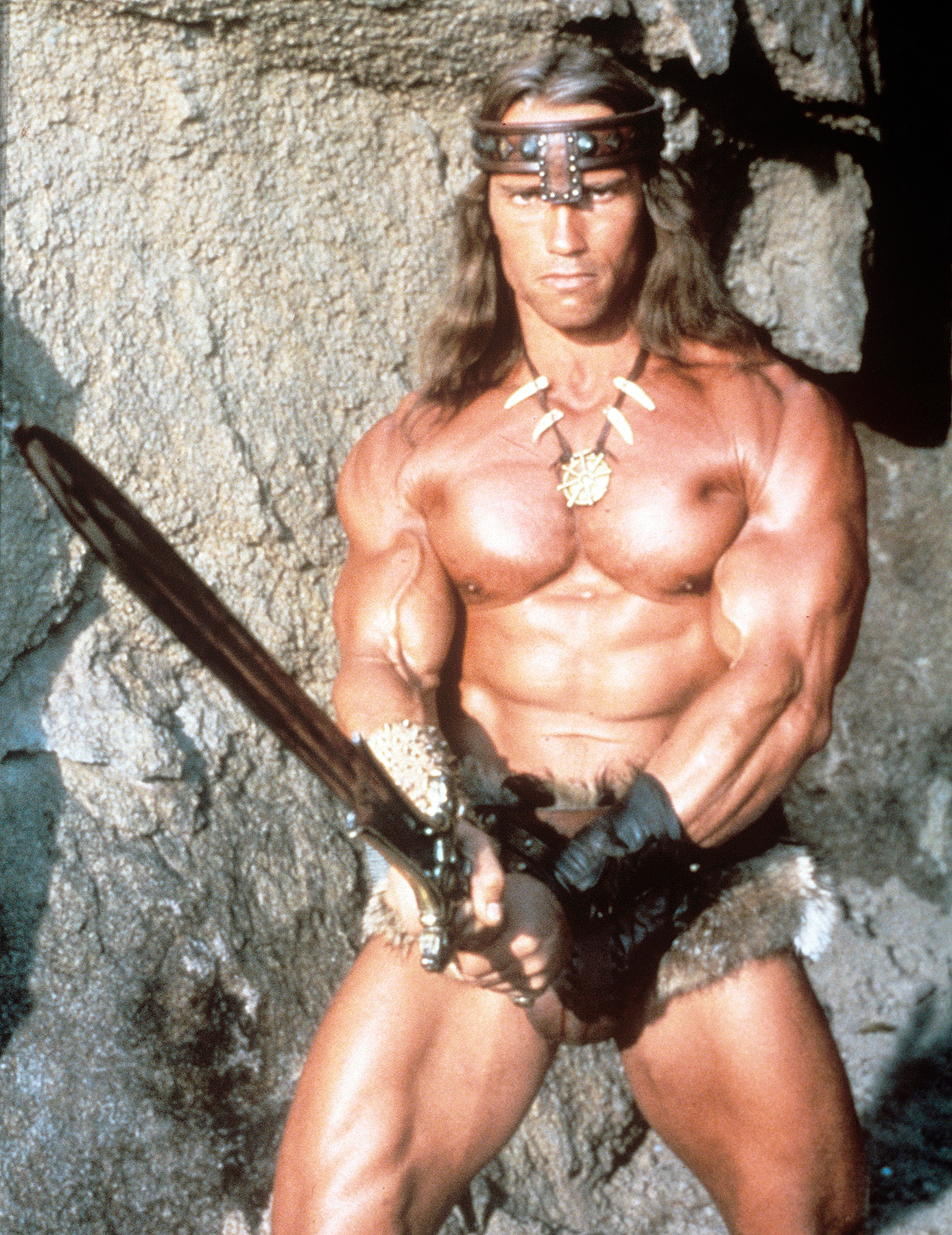 Arnold Schwarzenegger as Conan the Barbarian in 1982