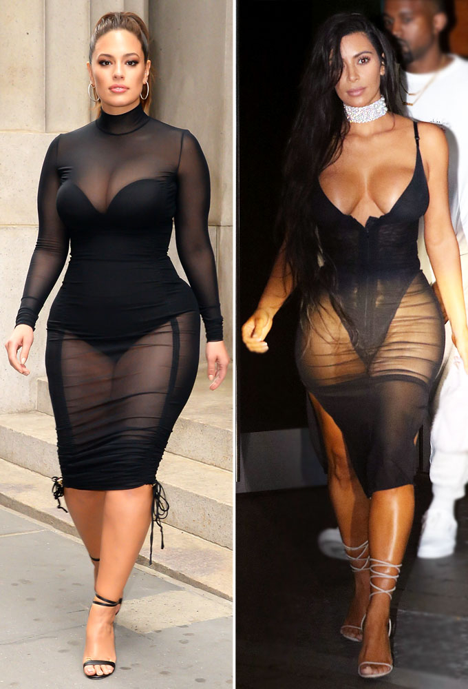 Ashley Graham and Kim Kardashian