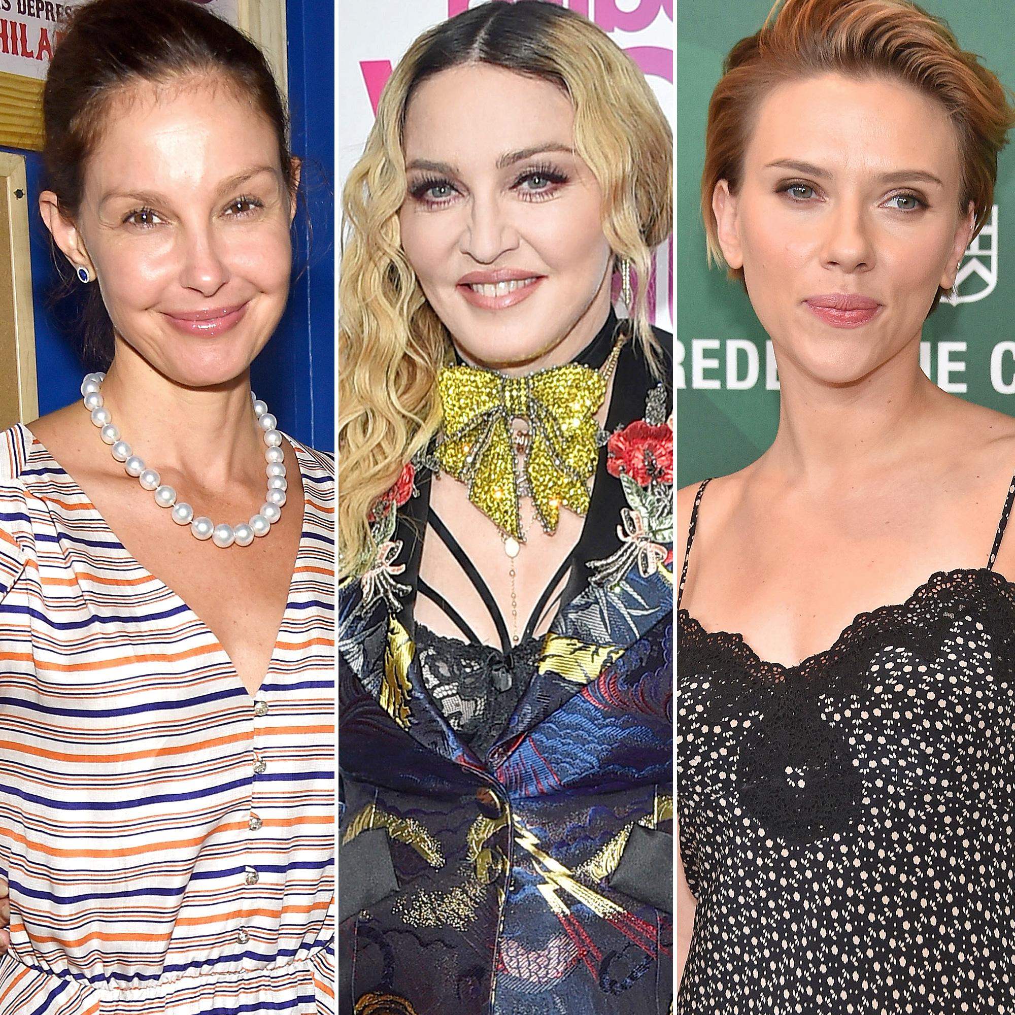 Ashley Judd, Madonna and Scarlett Johansson