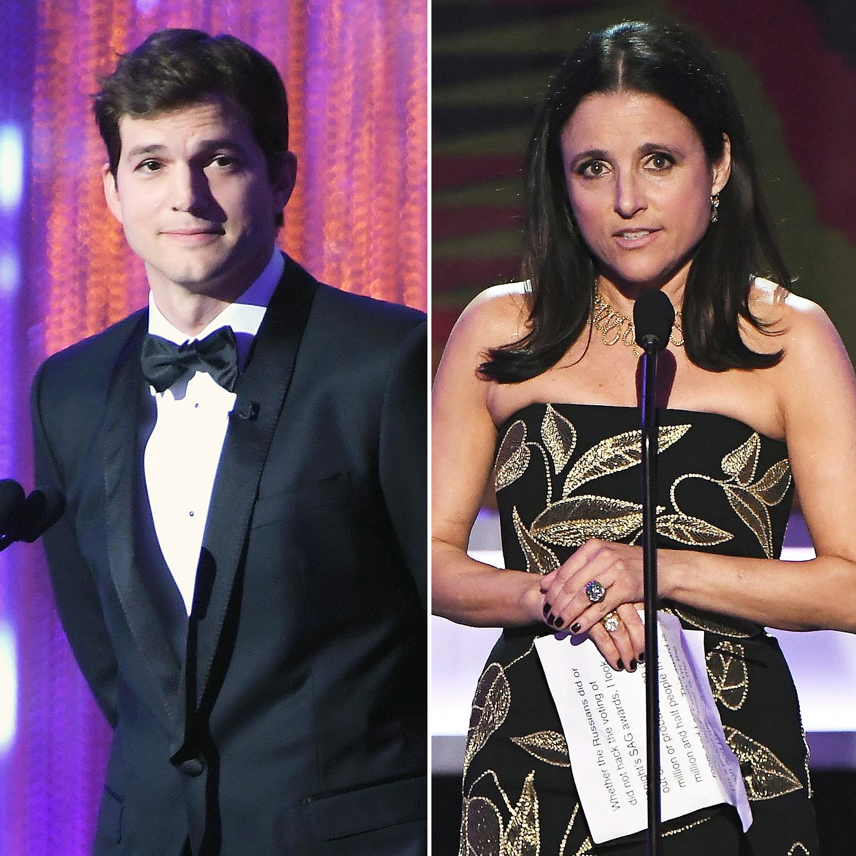 Ashton Kutcher Julia Louis-Dreyfus SAG Awards