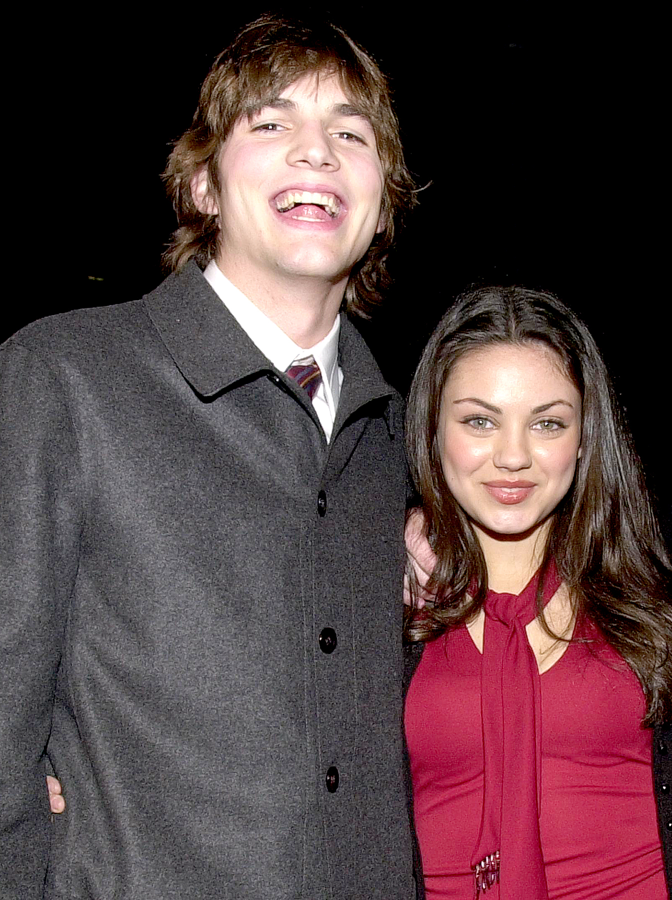 "Ashton Kutcher and Mila Kunis arrive at the premiere of ""Traffic"" at the Academy of Motion Pictures Arts and Sciences Theatre in Beverly Hills, CA, December 14, 2000."