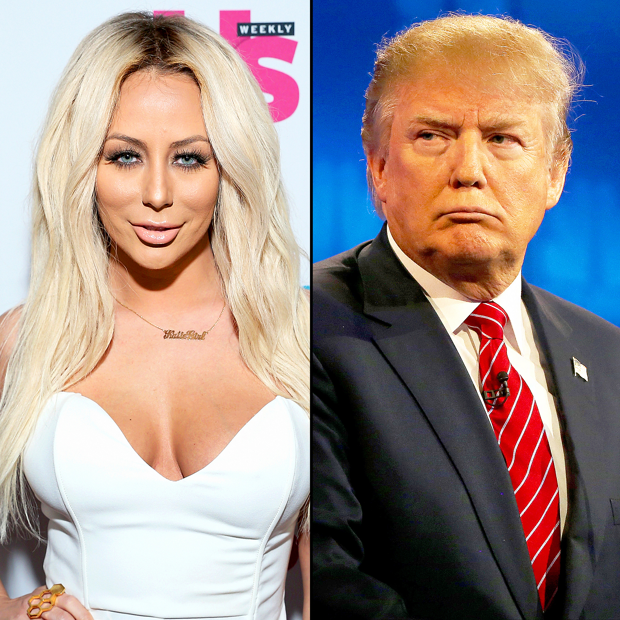 Aubrey O'Day and Donald Trump