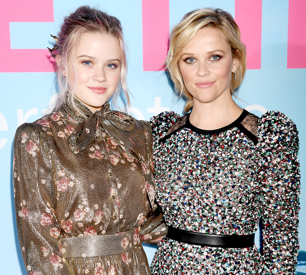 Ava Elizabeth Phillippe (L) and Reese Witherspoon attend the premiere of HBO's 'Big Little Lies' at the TCL Chinese Theater on February 7, 2017 in Hollywood, California.