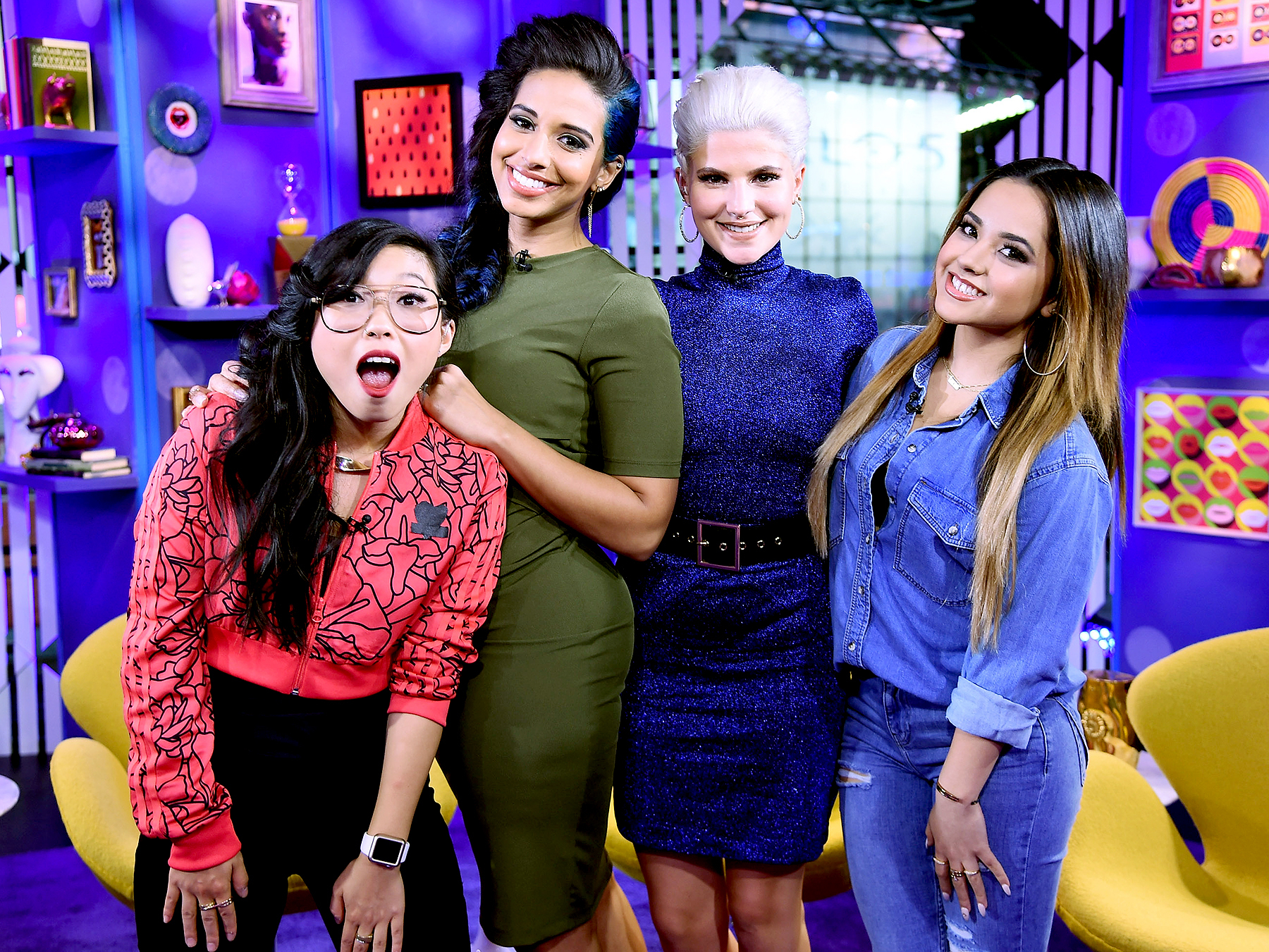 Awkwafina, TV personality Nessa, comedian Carly Aquilino, and singer-songwriter Becky G perform on MTV's