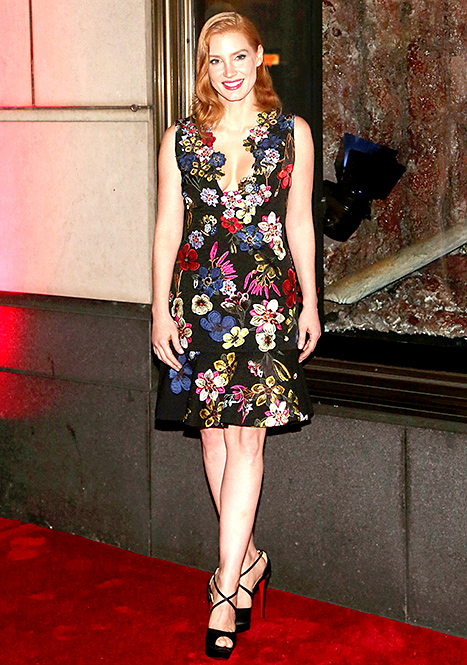 Jessica Chastain - fall florals