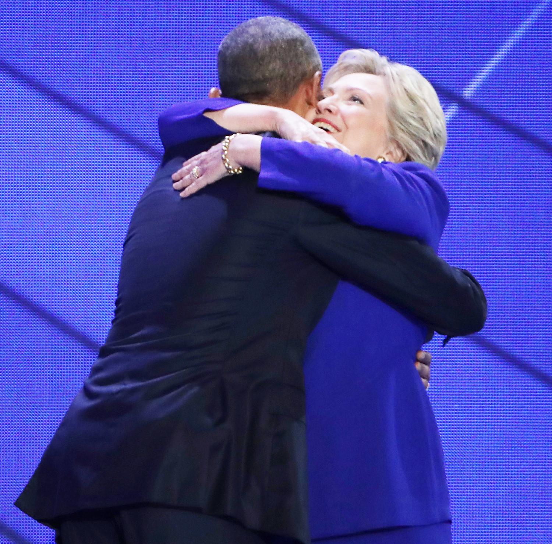 President Barack Obama and Hillary Clinton