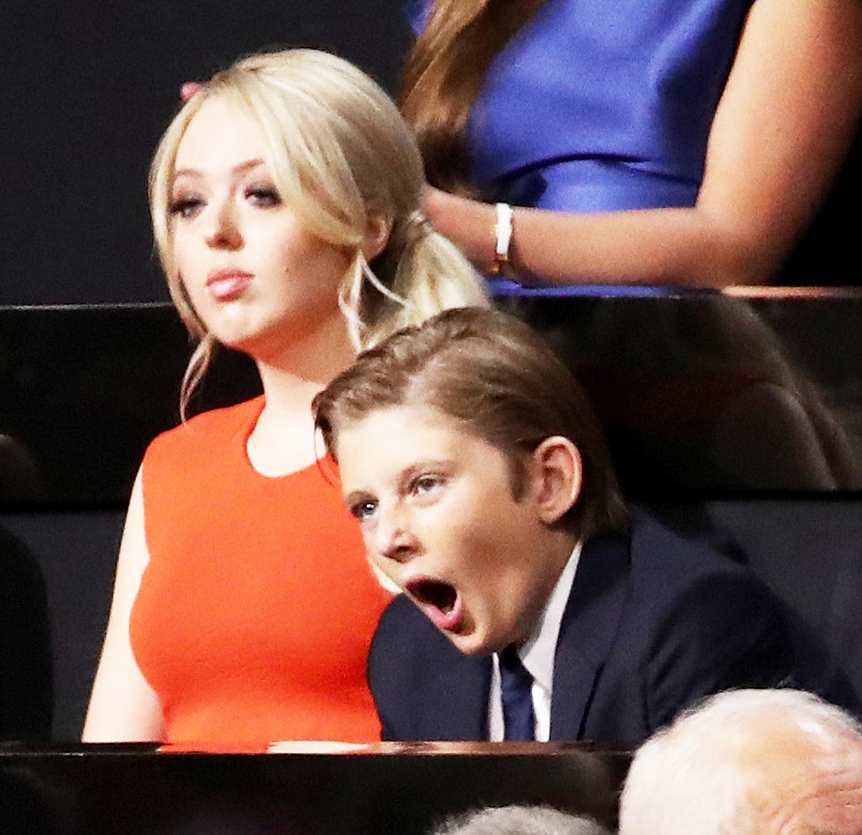 Tiffany Trump and Barron Trump