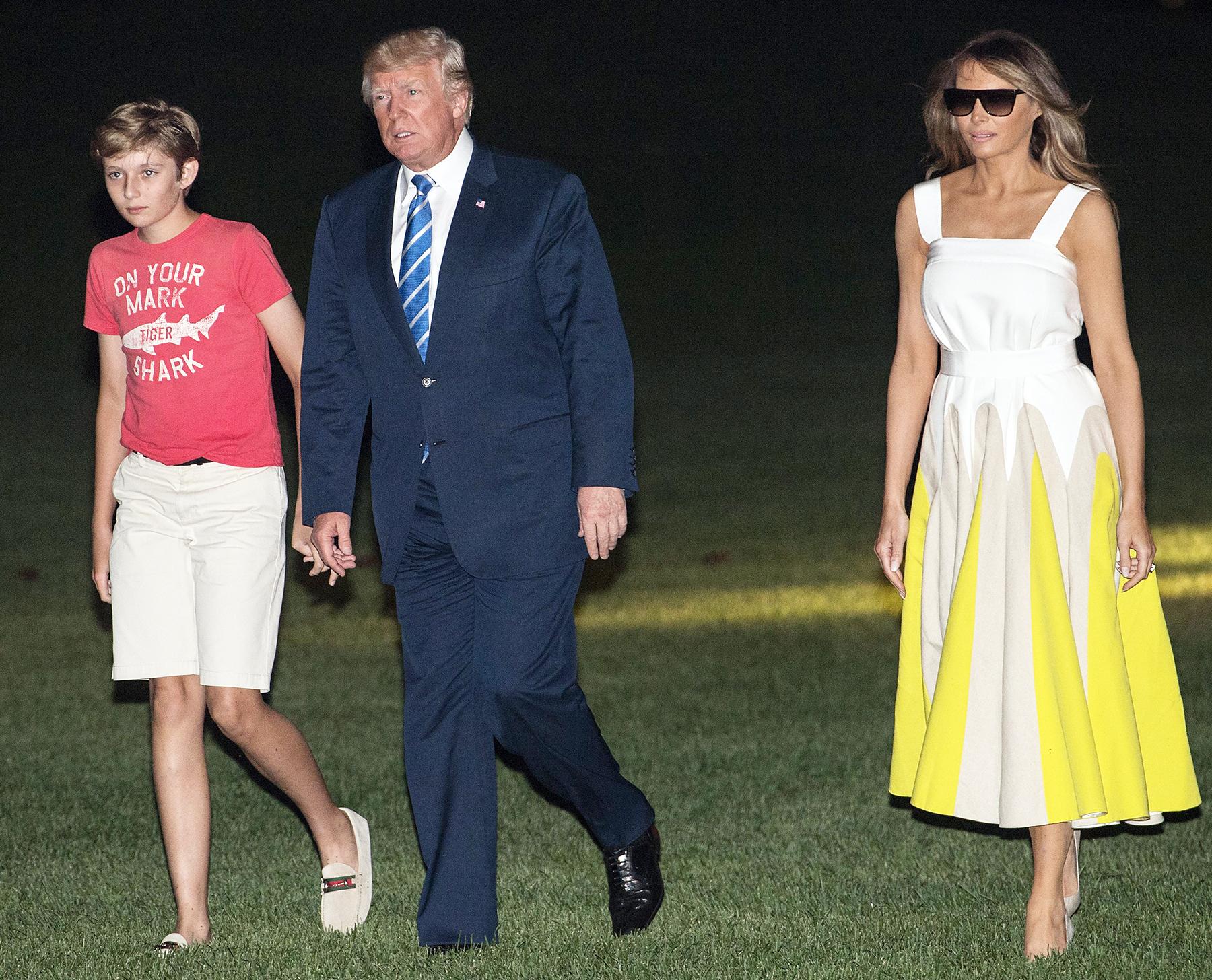 Barron Trump Donald Trump Melania Trump