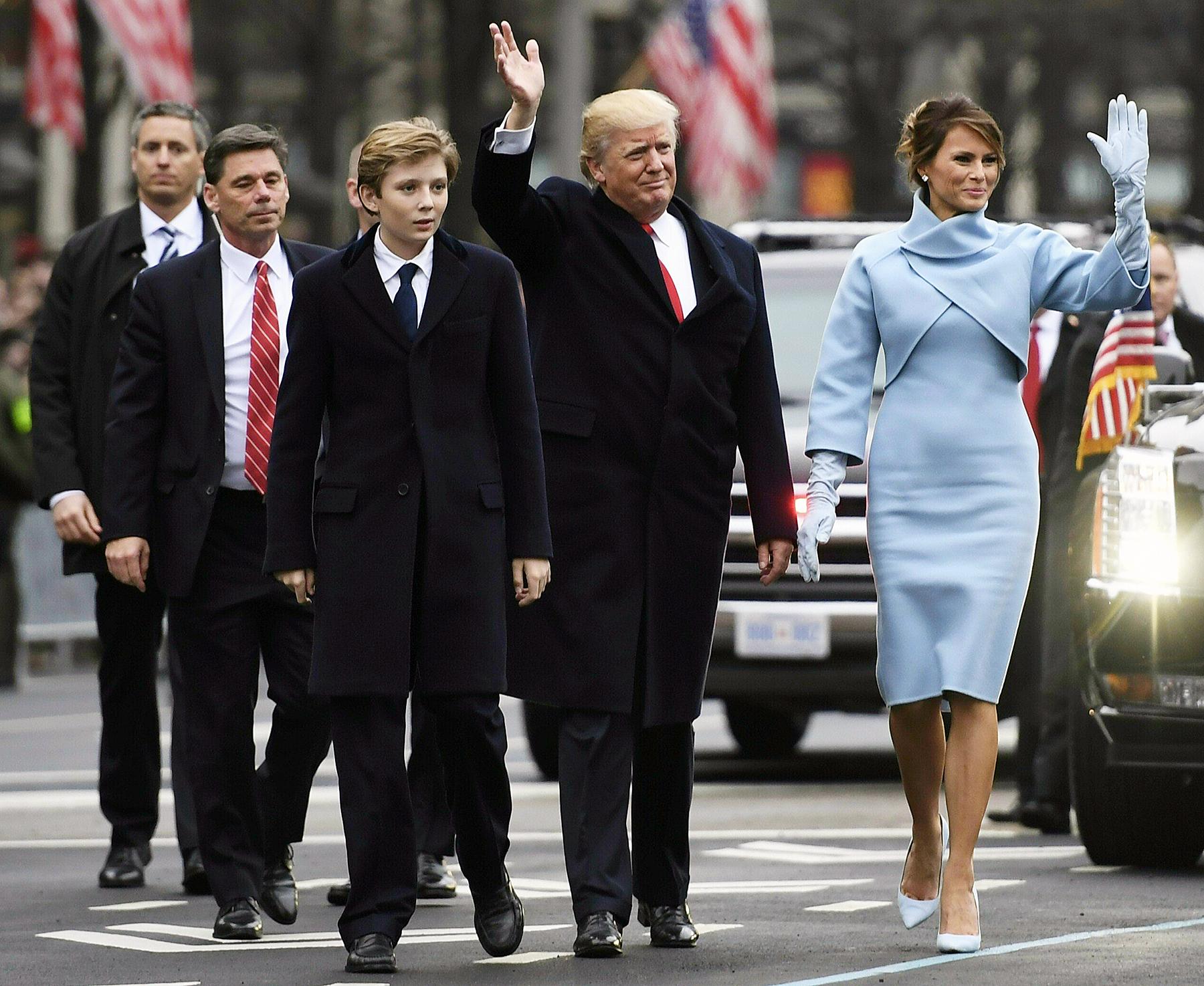 Barron Trump Donald Trump Melania Trump inauguration parade