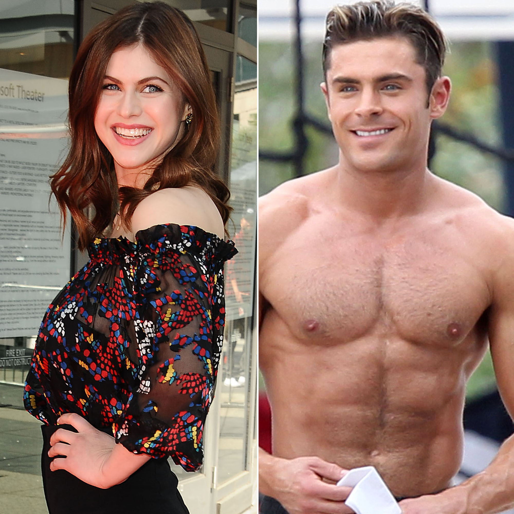 Alexandra daddario on what its like to touch zac efrons abs alexandra daddario and zac efron jason laverisfilmmagic splash news altavistaventures Gallery