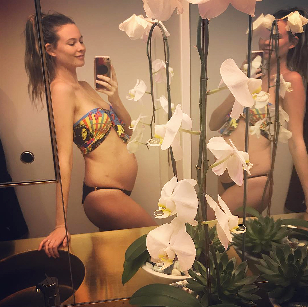 "Behati Prinsloo - In September 2017, the Victoria's Secret model announced that she and Adam Levine were expecting their second child by posting a bare baby bump selfie. ""Round 2,"" she wrote."