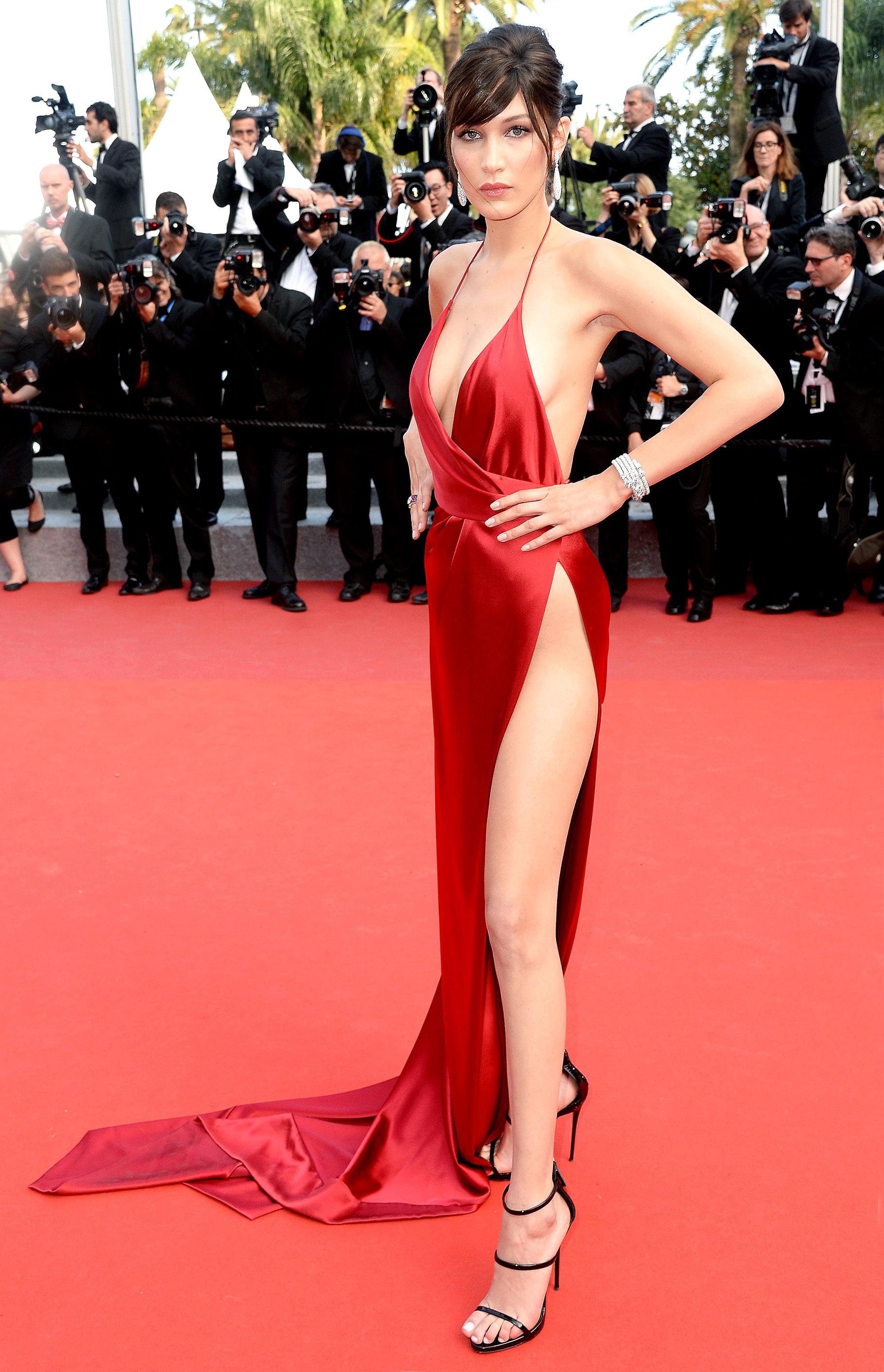 Bella Hadid Narrowly Avoids Wardrobe Malfunction: Cannes ...