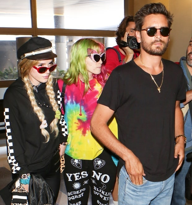 Bella Thorne, Dani Thorne and Scott Disick