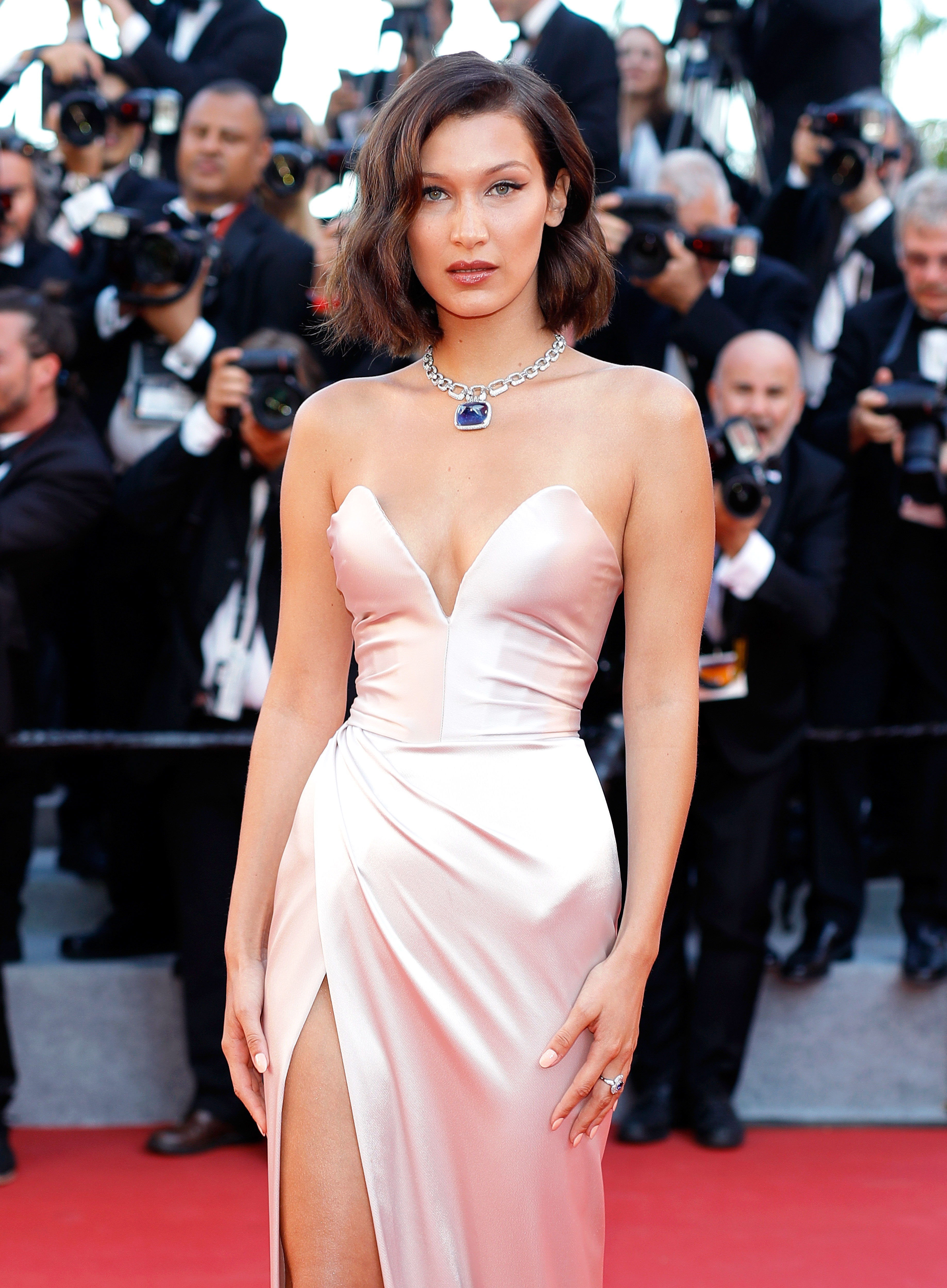 Bella Hadid Suffers Wardrobe Malfunction at Cannes Two ...