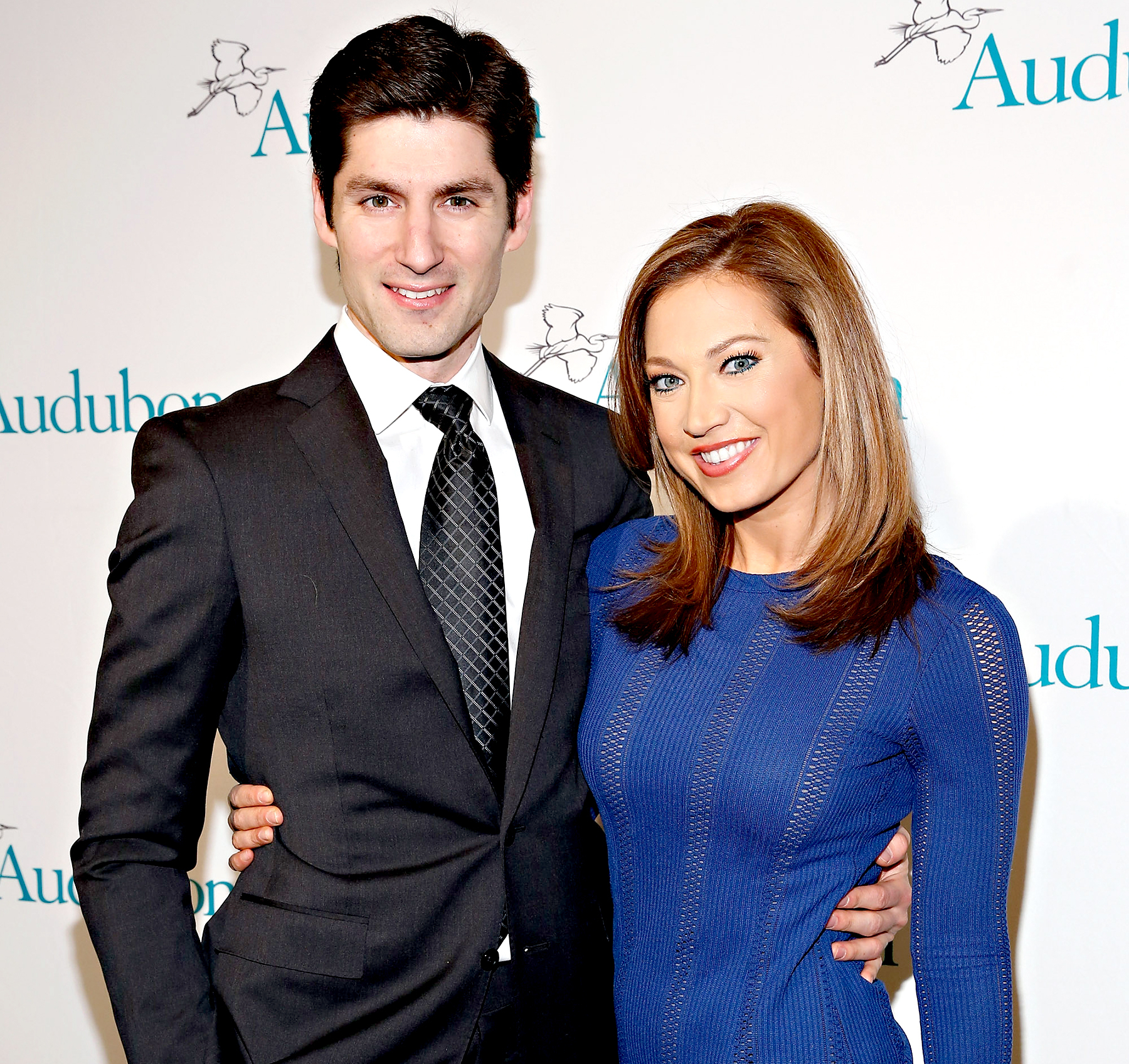 Ben Aaron and Ginger Zee attend the 2013 National Audubon Society's Gala at The Plaza Hotel in New York City on January 27, 2014.