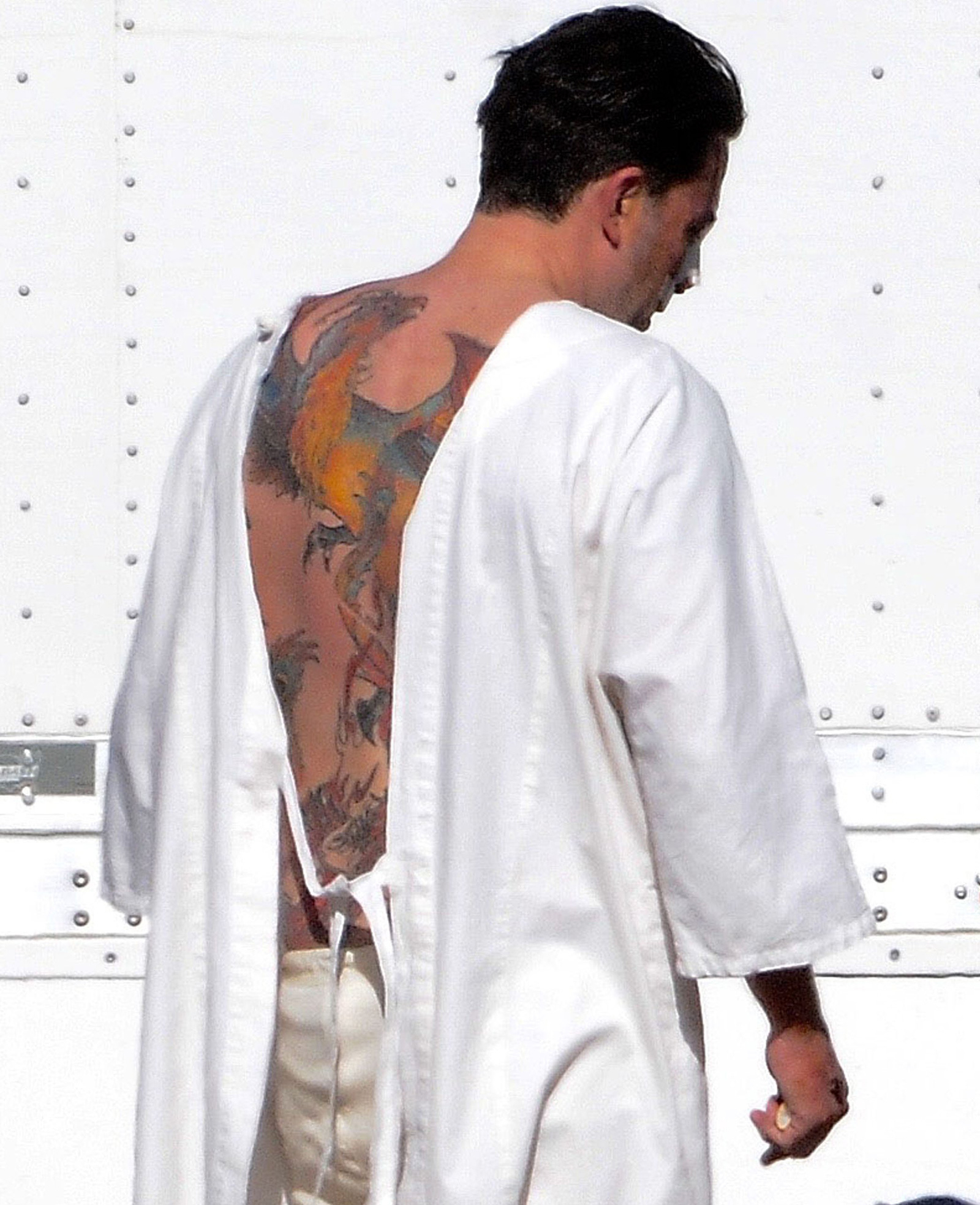 Ben Affleck back tattoo