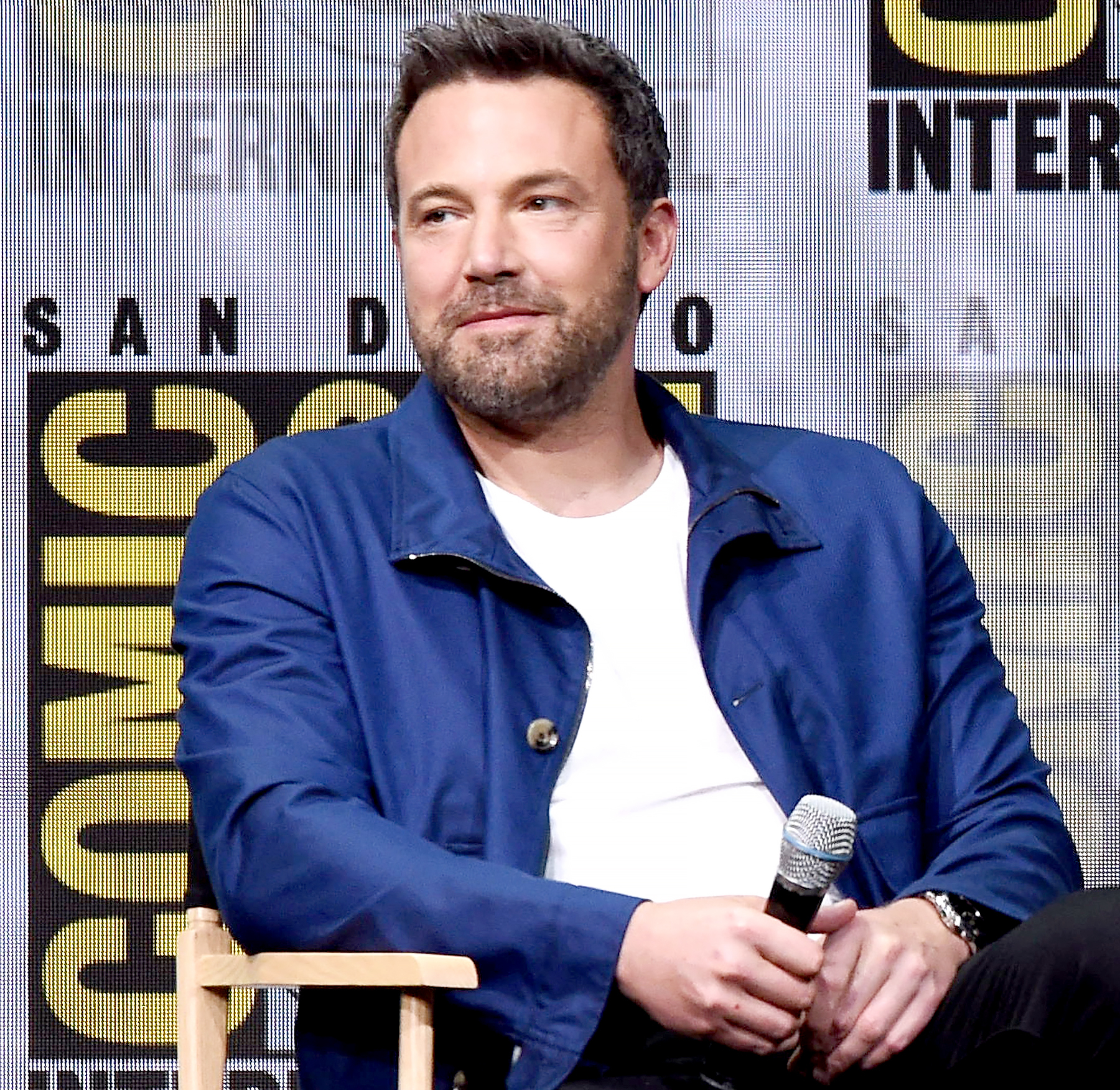 "Ben Affleck attends the Warner Bros. Pictures ""Justice League"" Presentation during Comic-Con International 2017 at San Diego Convention Center on July 22, 2017 in San Diego, California."
