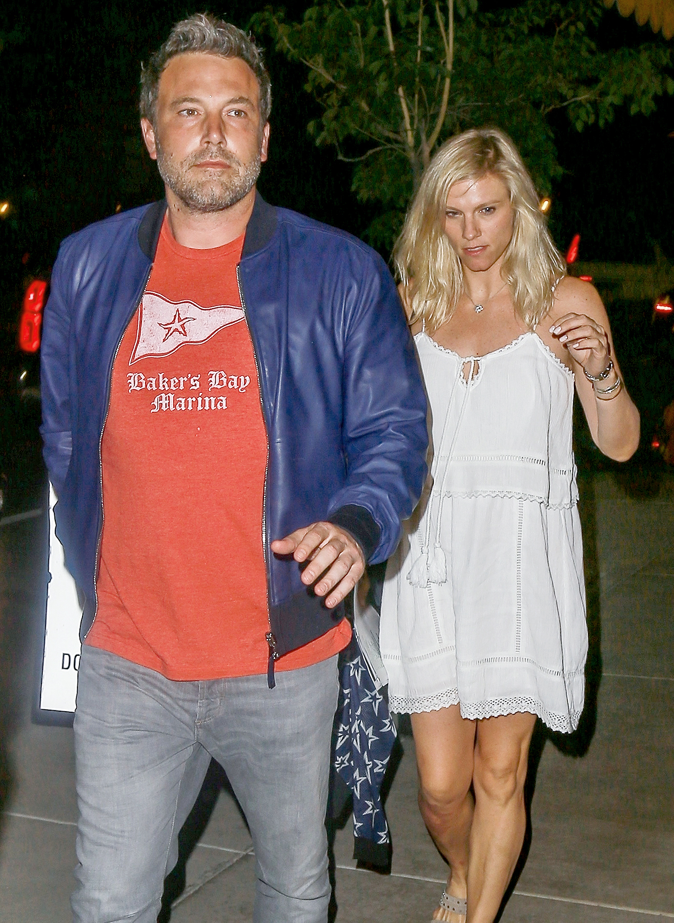 Ben Affleck and Lindsay Shookus go to dinner at Pizzeria Mozza in Los Angeles on August 1, 2017.