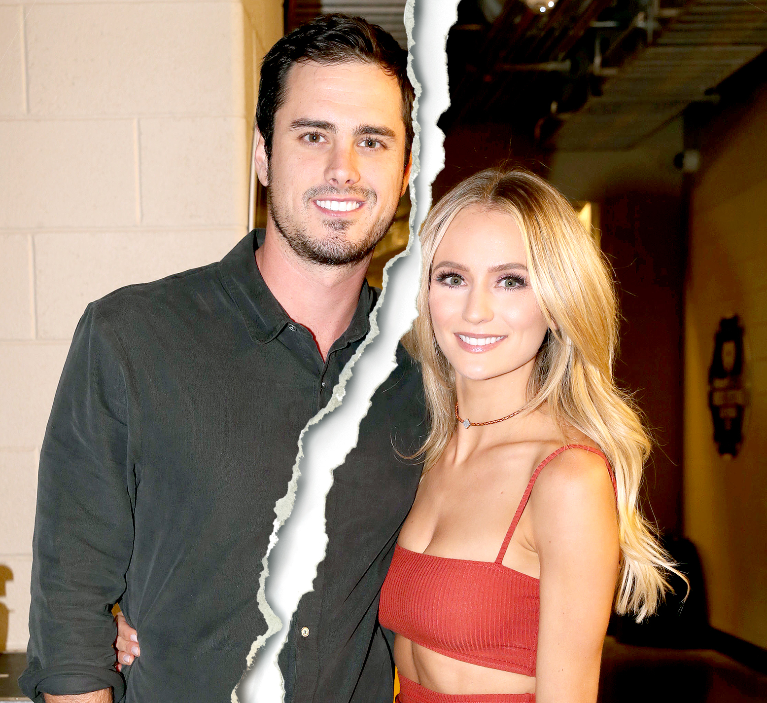 Ben Higgins and Lauren Bushnell attend the 2016 iHeartRadio Music Festival at T-Mobile Arena on September 23, 2016 in Las Vegas, Nevada.