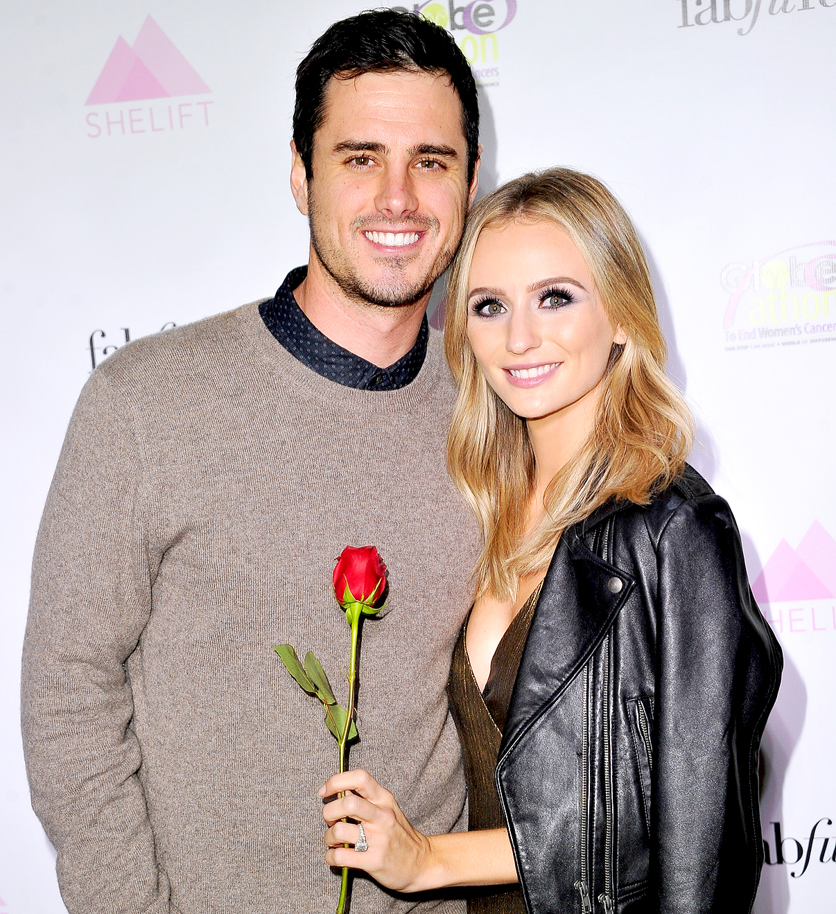 Ben Higgins and Lauren Bushnell attend the premiere party for The Bachelor Charity at Sycamore Tavern on January 2, 2017 in Los Angeles, California.