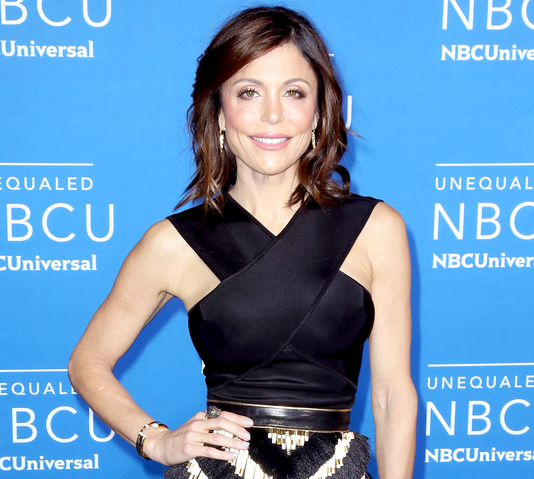 Bethenny Frankel attends the 2017 NBCUniversal Upfront Red Carpet in New York City.