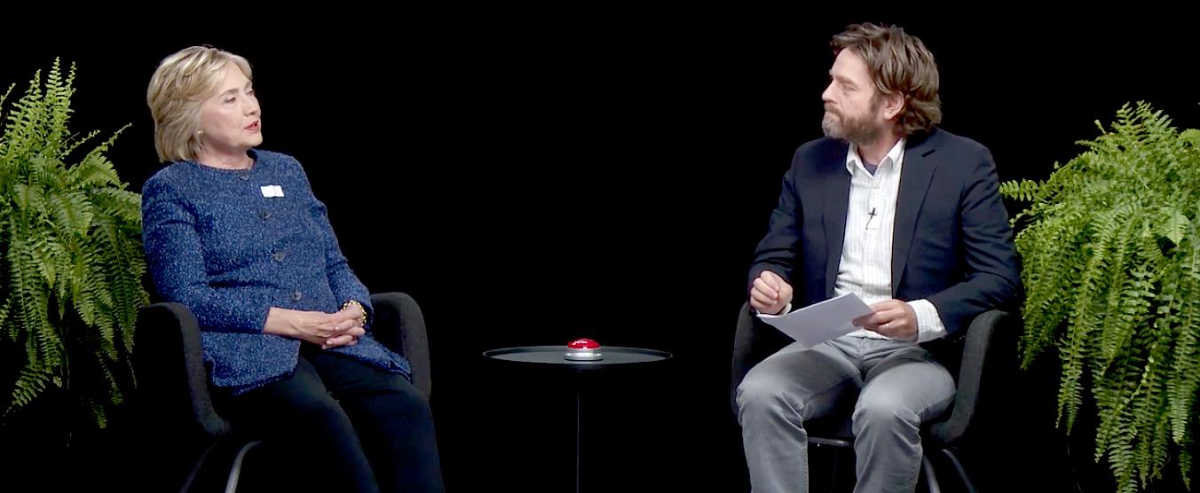 Hillary Clinton and Zach Galifianakis