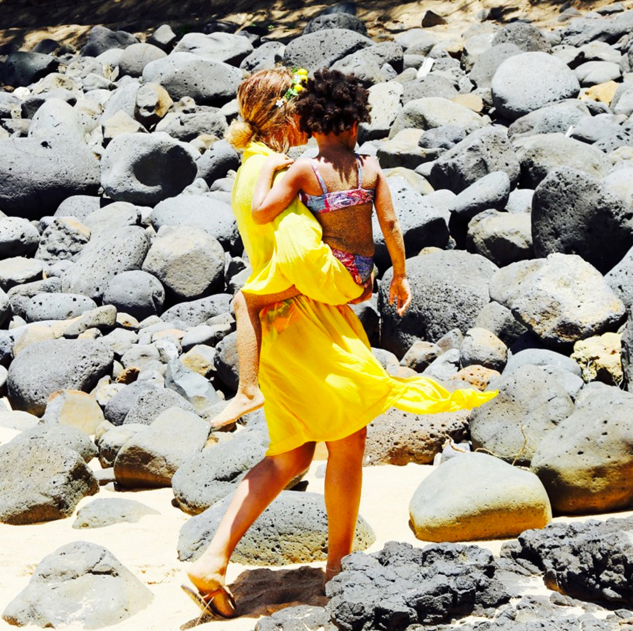 Beyonce and Blue Ivy in Hawaii.