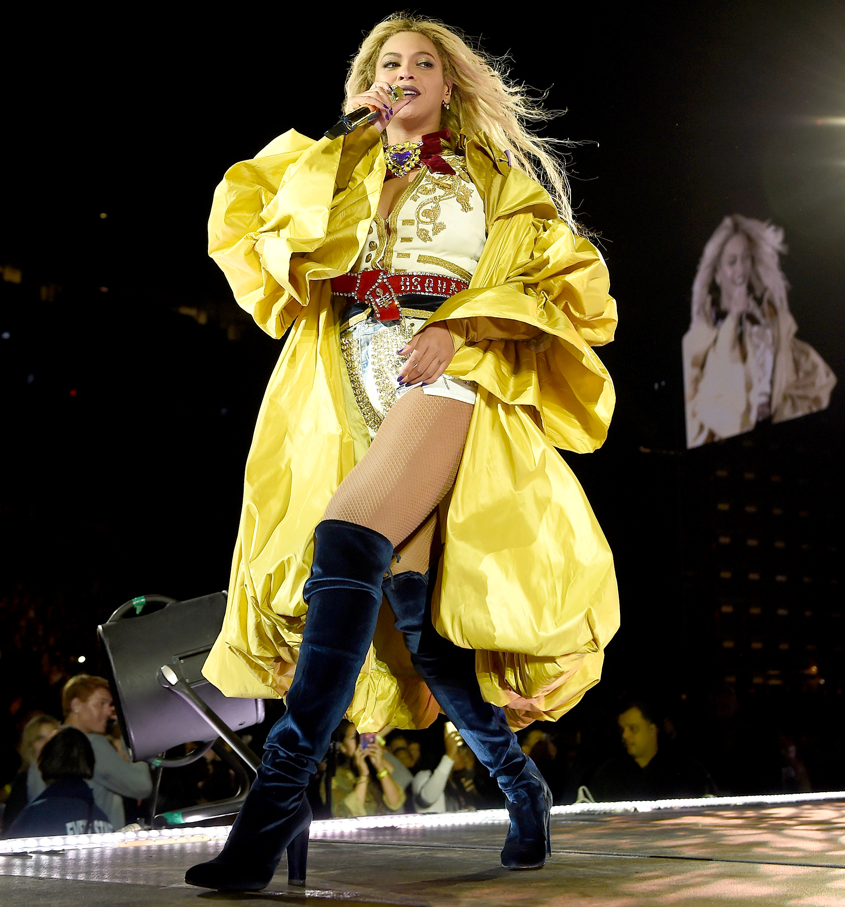 Beyonce performs on stage during closing night of