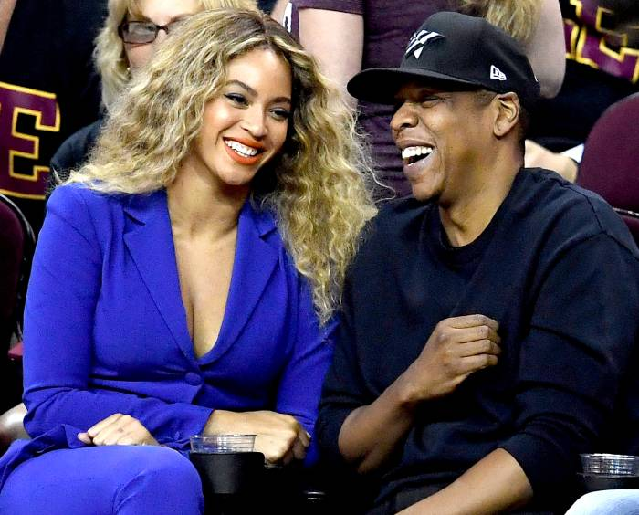 Beyonce and Jay Z attend Game 6 of the 2016 NBA Finals between the Cleveland Cavaliers and the Golden State Warriors at Quicken Loans Arena on June 16, 2016 in Cleveland, Ohio.