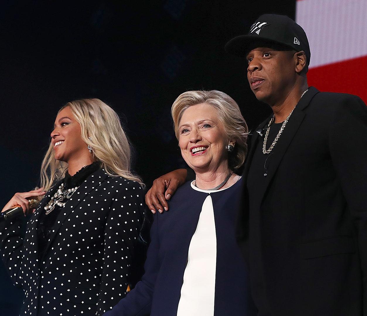 Jay Z-, Hilary Clinton, Beyonce