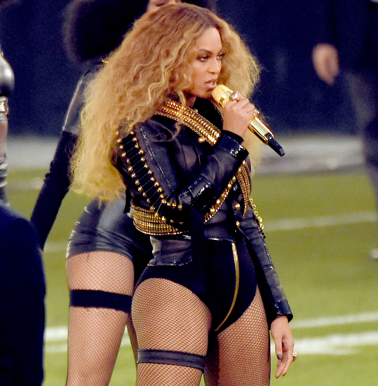 Beyonce performs onstage during the Pepsi Super Bowl 50 Halftime Show.