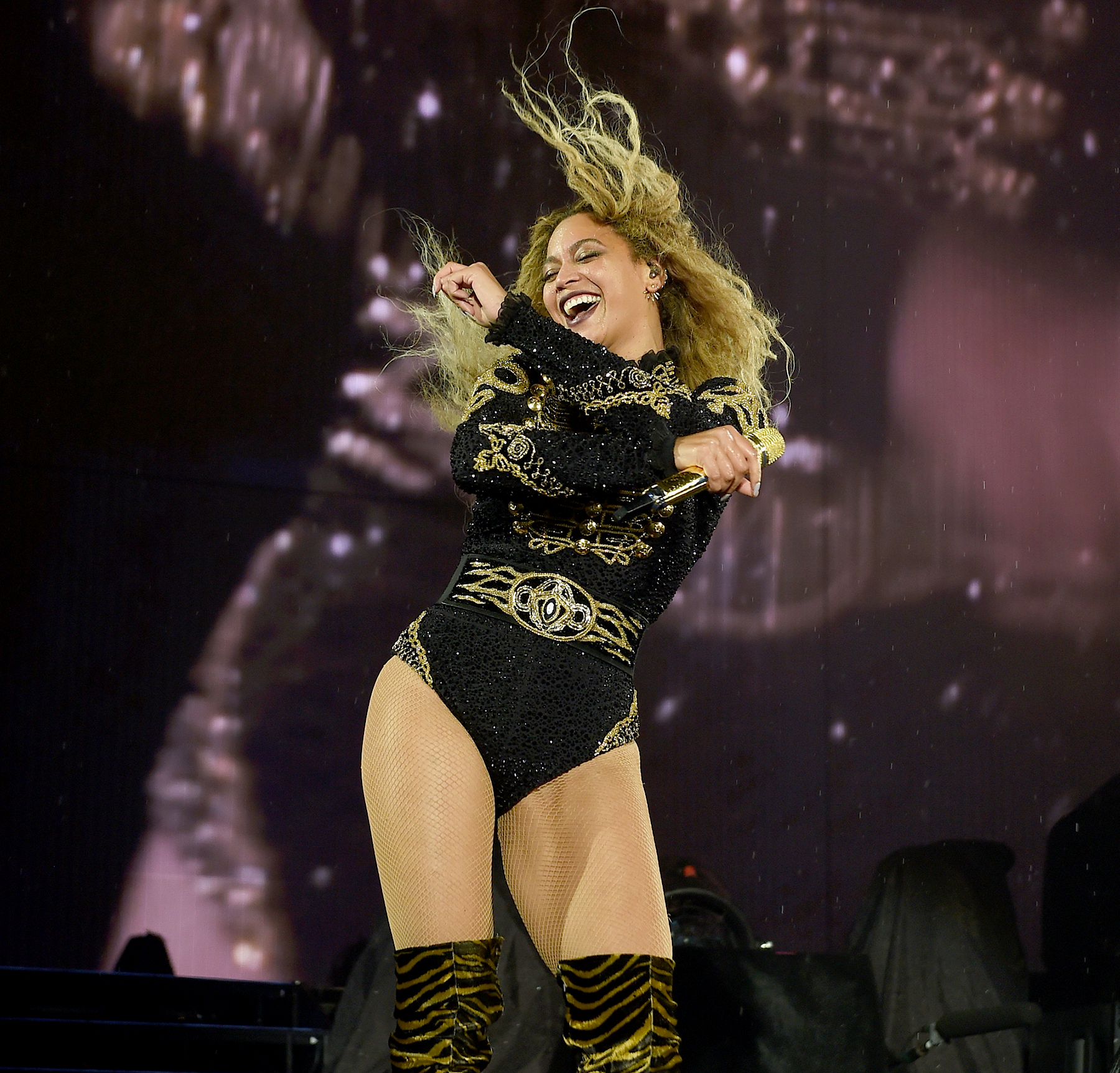 Beyonce on stage during