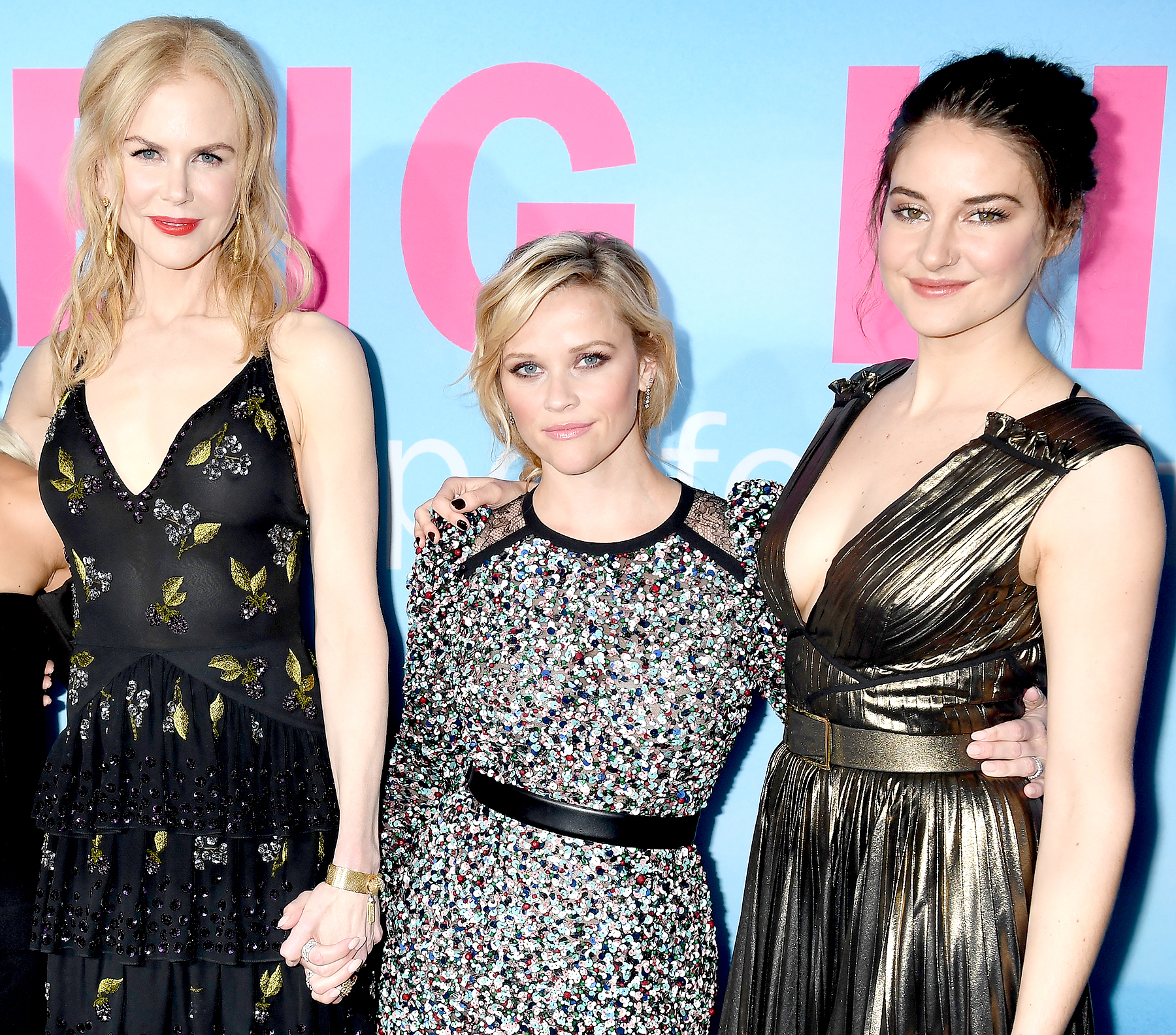 Nicole Kidman, Reese Witherspoon and Shailene Woodley attend the premiere of HBO's 'Big Little Lies' at the TCL Chinese Theater on February 7, 2017 in Hollywood, California.