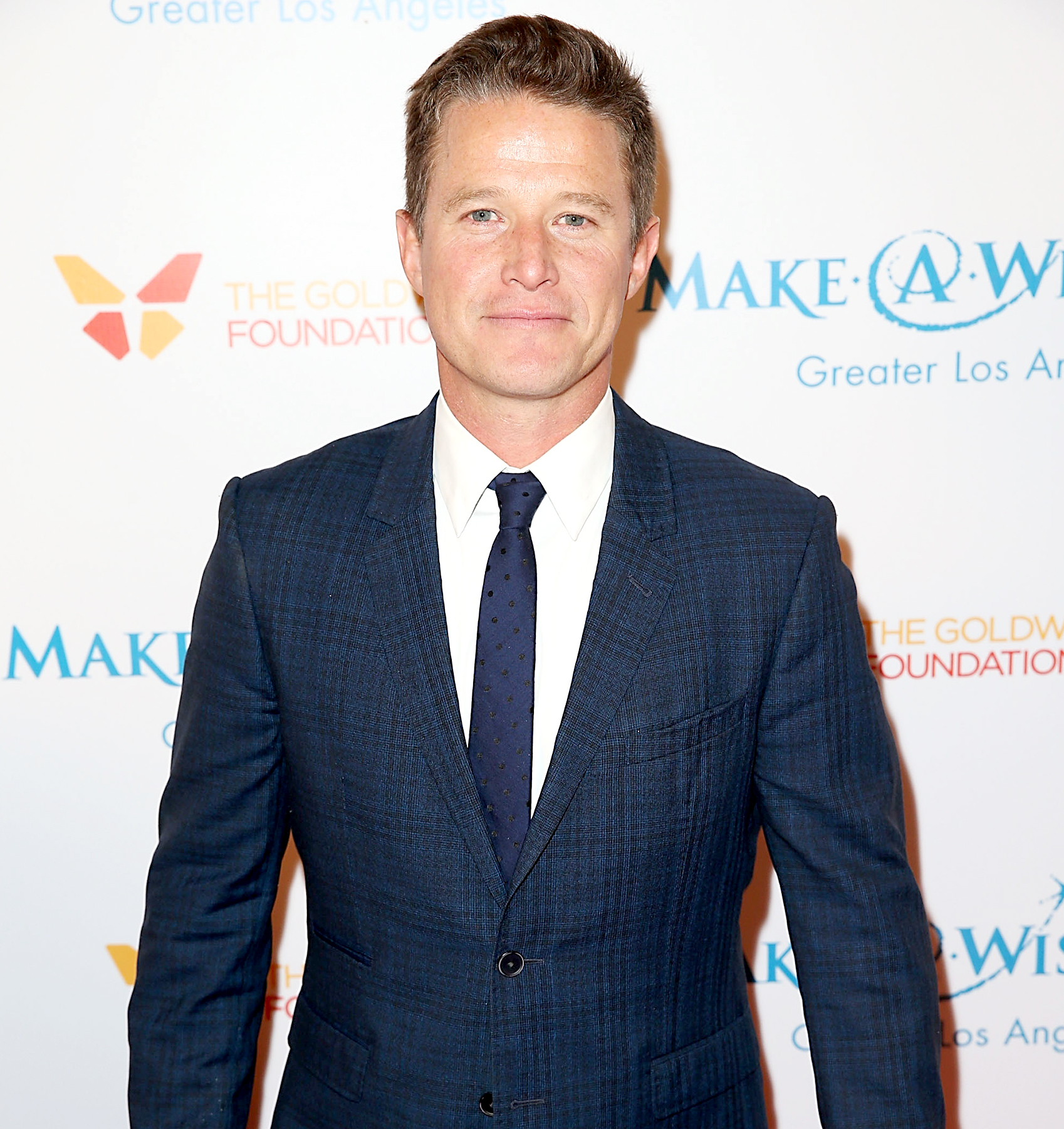 Billy Bush arrives at the Make-A-Wish Greater Los Angeles Annual Wishing Well Winter Gala at the Beverly Wilshire Four Seasons Hotel on December 9, 2015 in Beverly Hills, California.