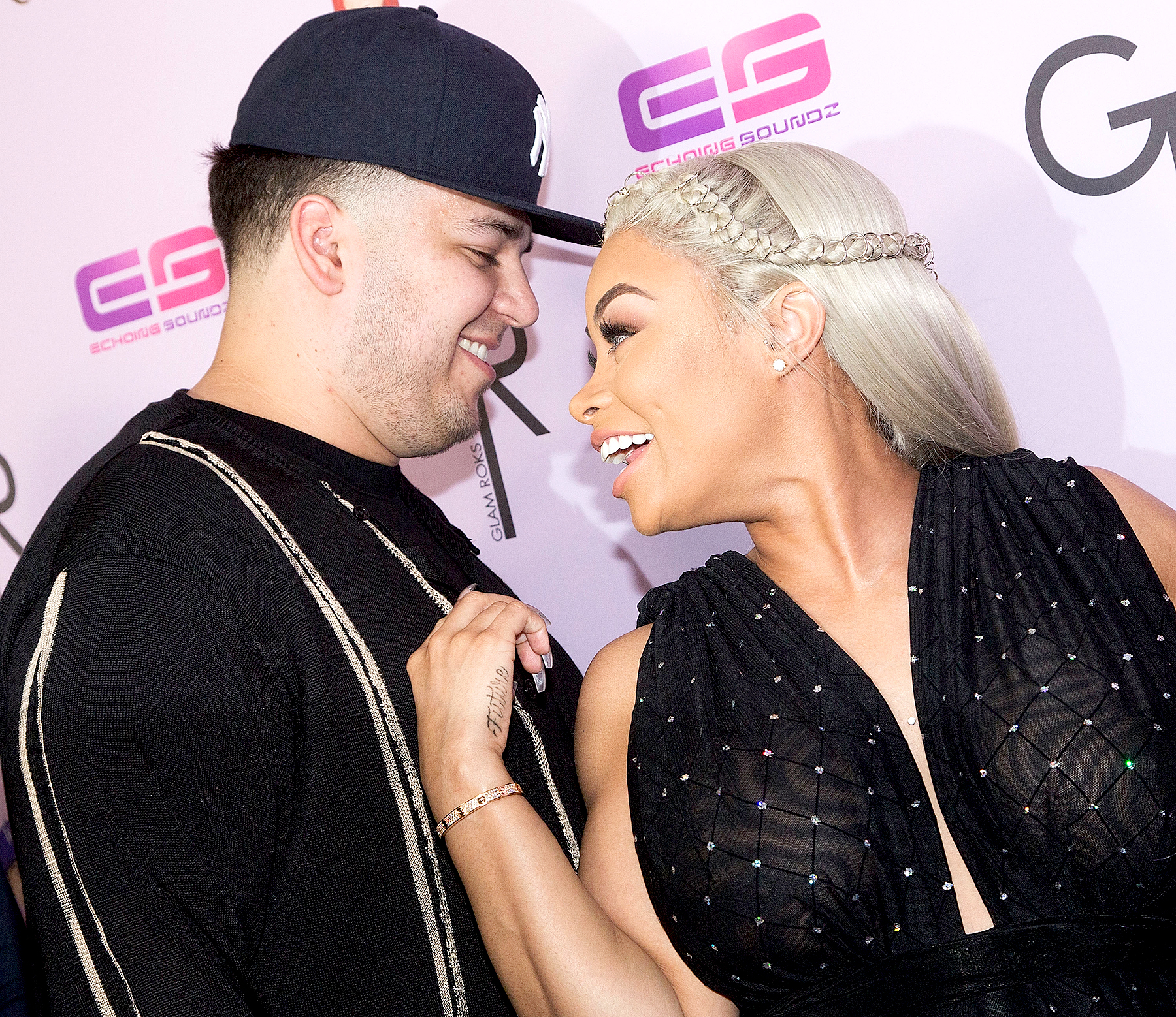 Blac Chyna and Rob Kardashian arrive for her Blac Chyna's birthday celebration and unveiling of her