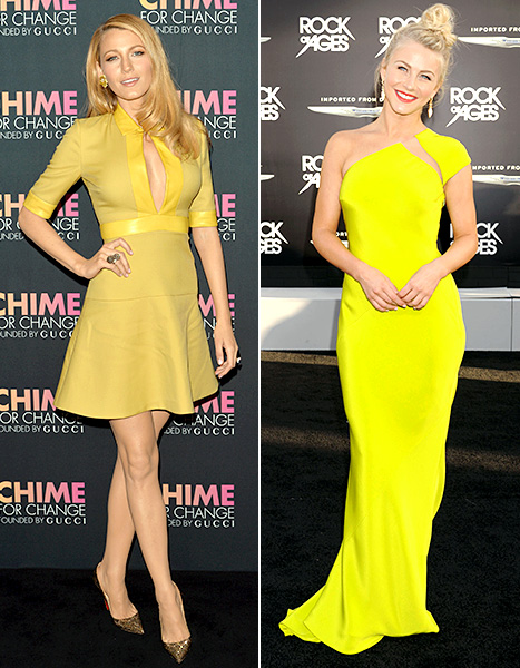 Blake Lively and Julianne Hough - Yellow dresses