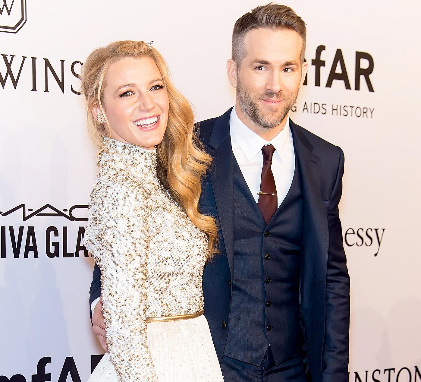 Blake Lively and Ryan Reynolds attend the 2016 amfAR New York Gala.