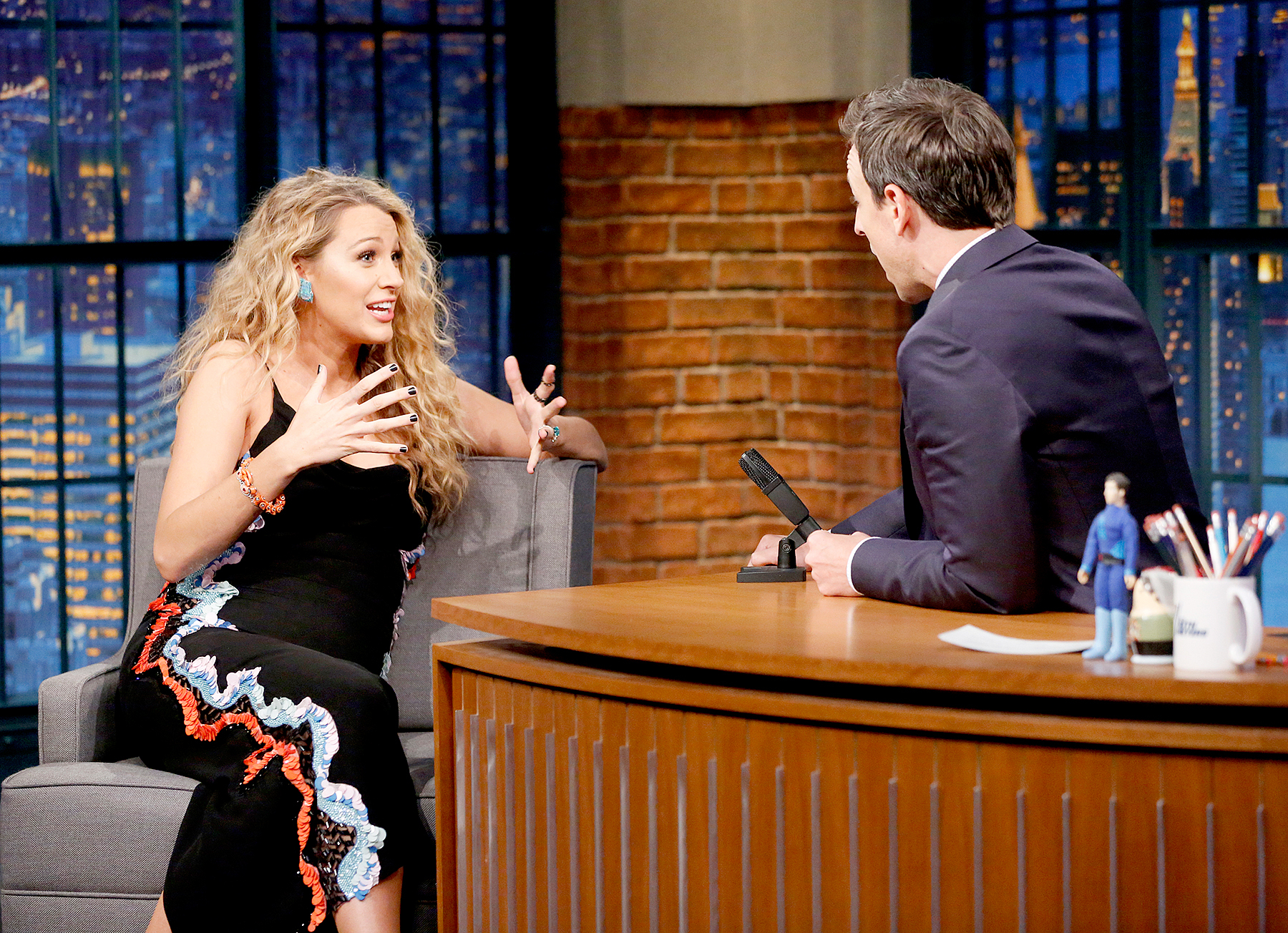 Blake Lively during an interview with host Seth Meyers on June 22, 2016.